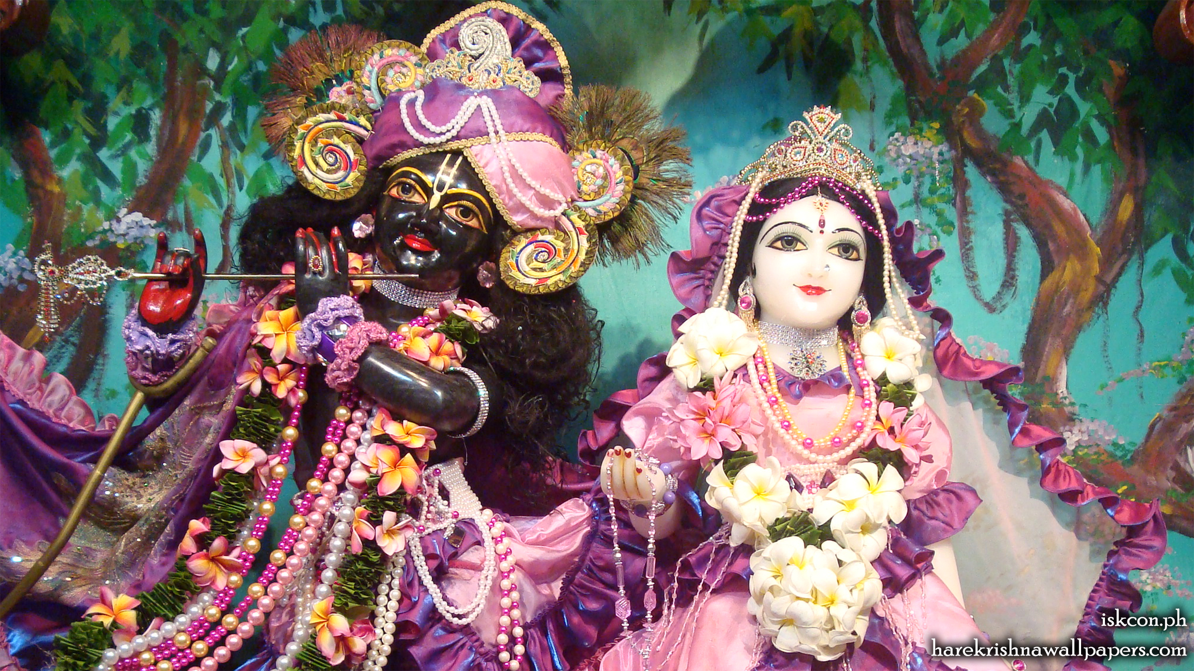Sri Sri Radha Madhava Close up Wallpaper (005) Size 2400x1350 Download