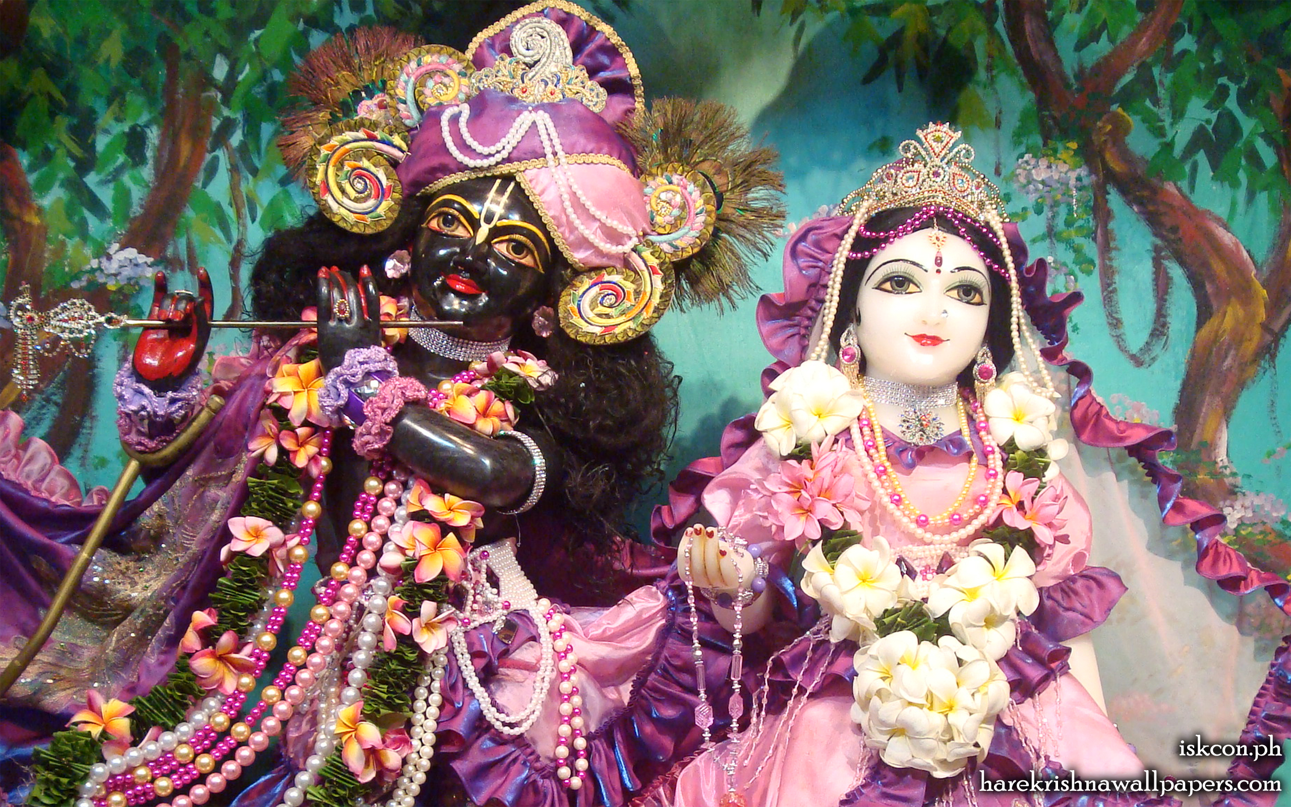 Sri Sri Radha Madhava Close up Wallpaper (005) Size 2560x1600 Download