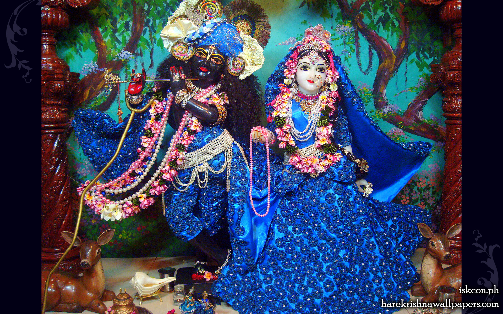 Sri Sri Radha Madhava Wallpaper (007) Size 1920x1200 Download