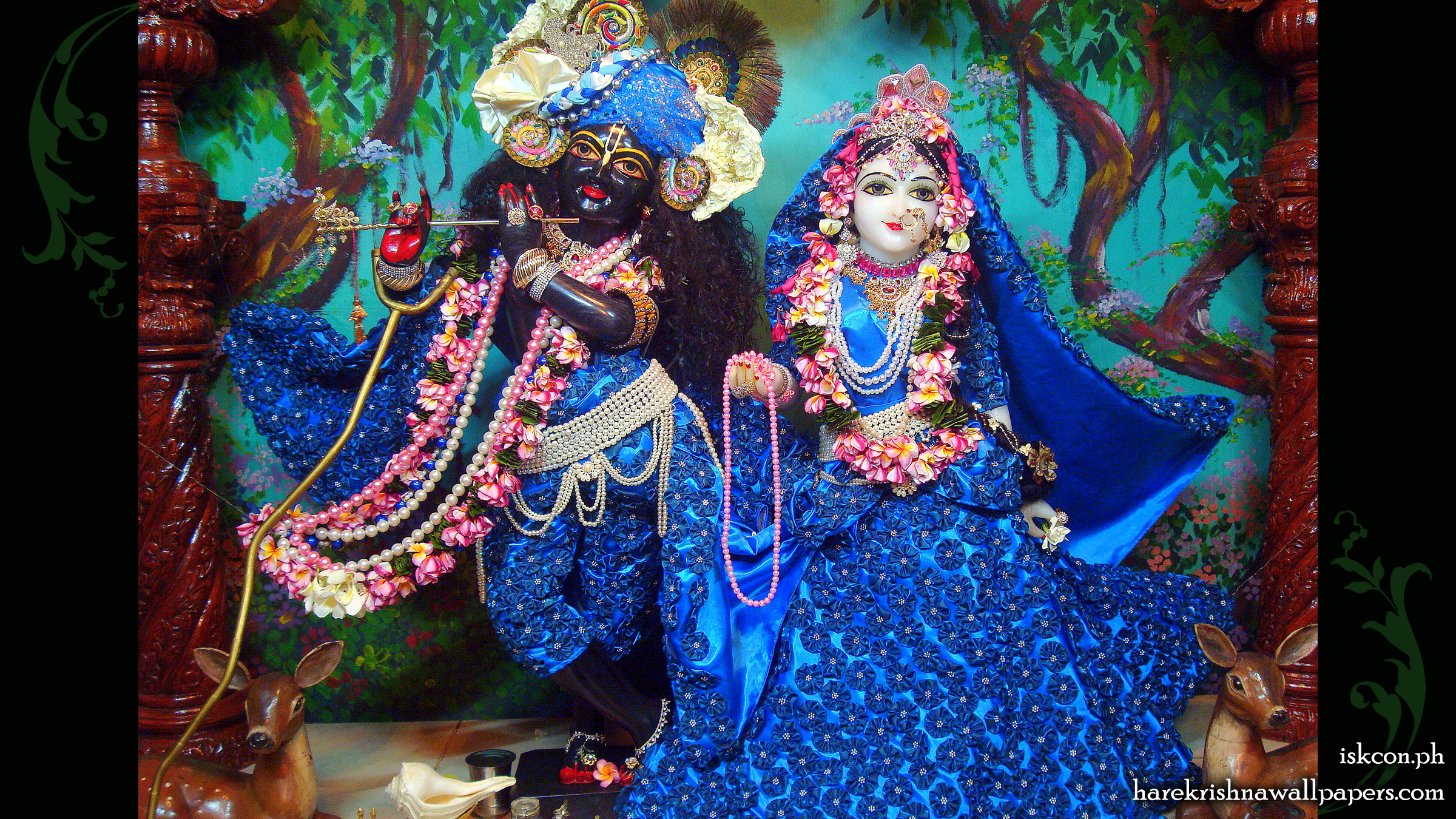 Sri Sri Radha Madhava Wallpaper (007) Size 2400x1350 Download