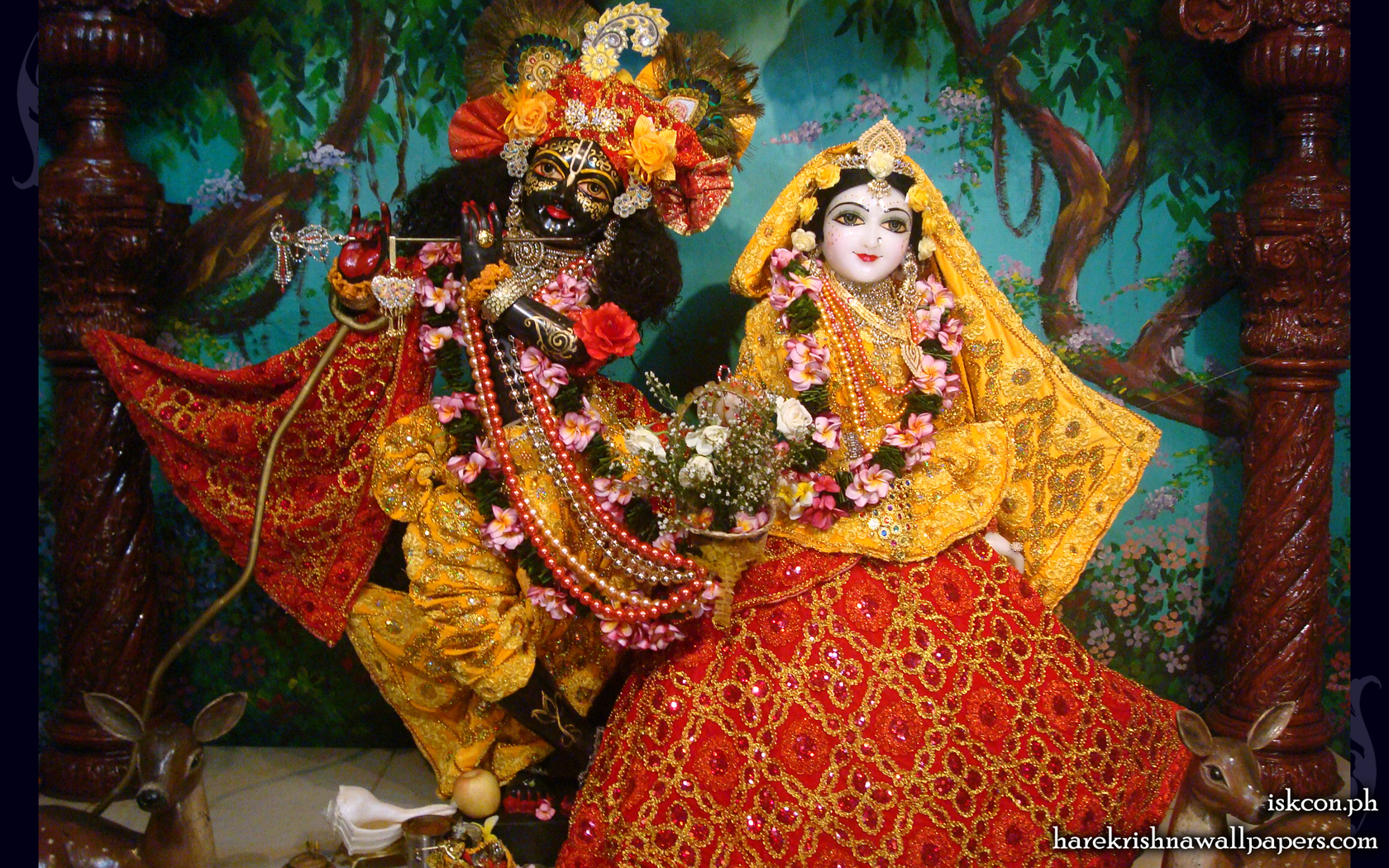 Sri Sri Radha Madhava Wallpaper (009) Size 1680x1050 Download