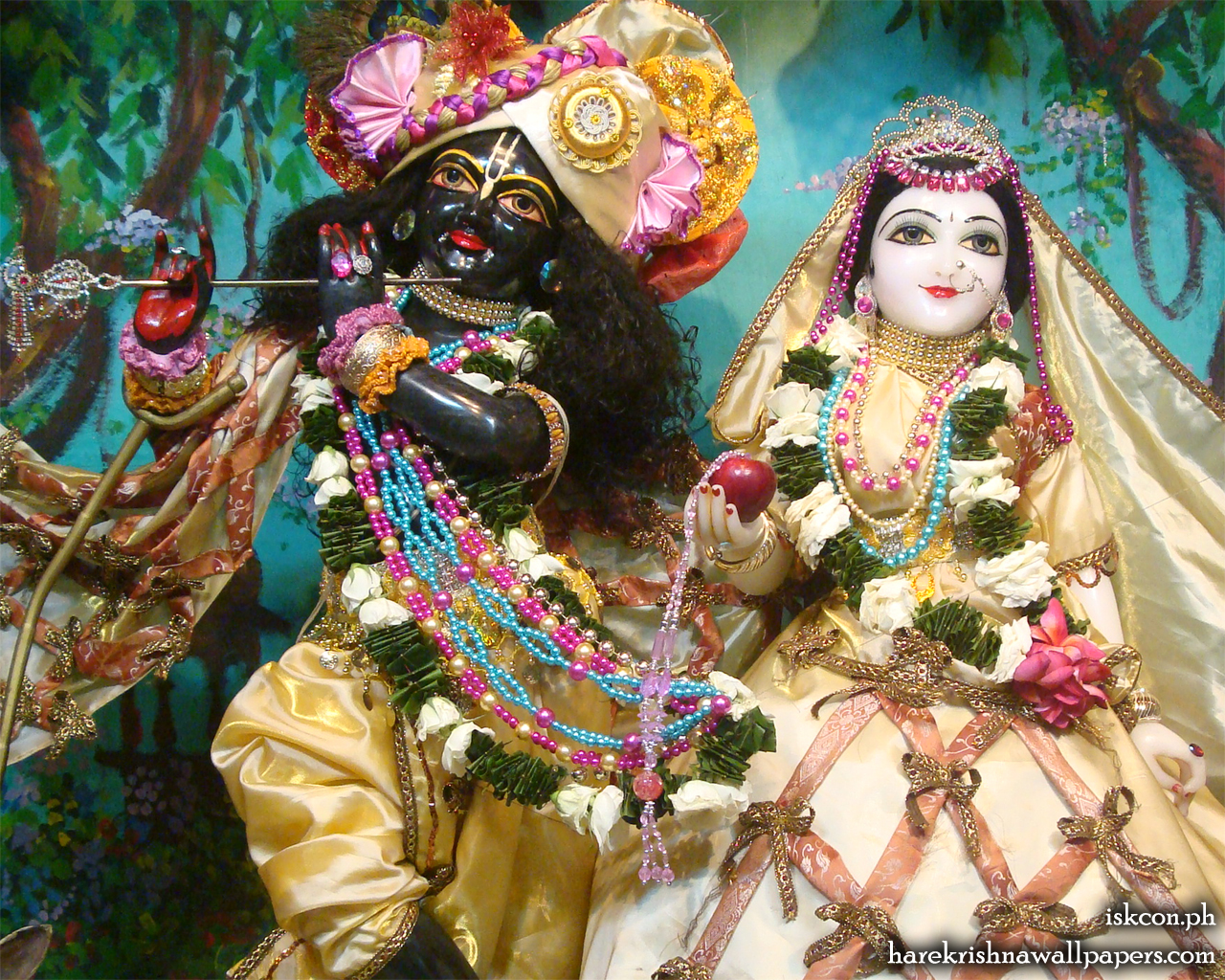 Sri Sri Radha Madhava Close up Wallpaper (010) Size 1280x1024 Download