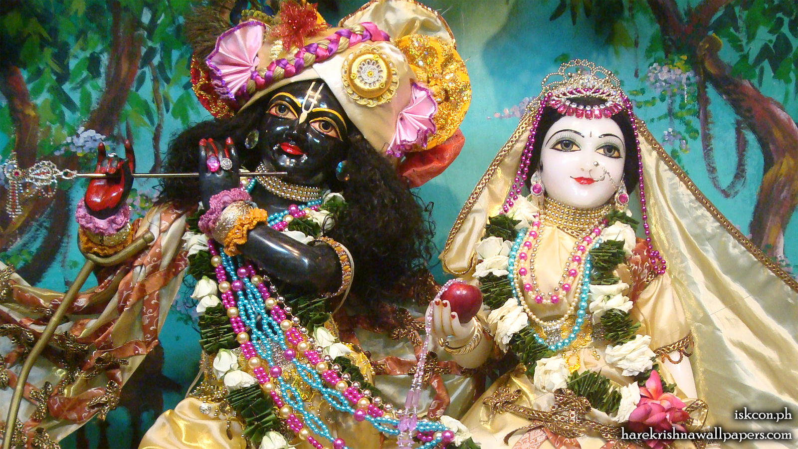 Sri Sri Radha Madhava Close up Wallpaper (010) Size 1600x900 Download