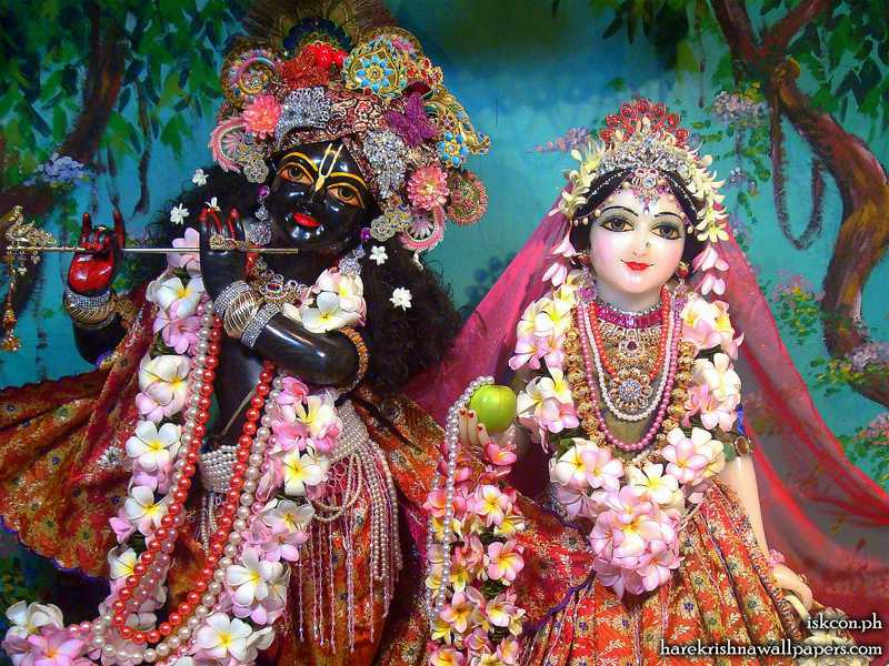 Sri Sri Radha Madhava Close up Wallpaper (011)