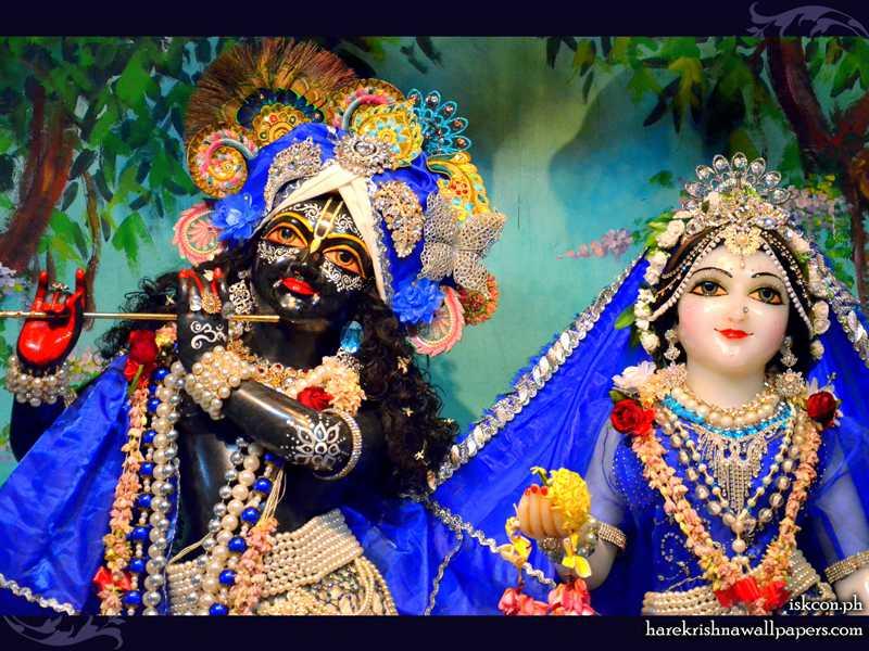 Sri Sri Radha Madhava Close up Wallpaper (014)