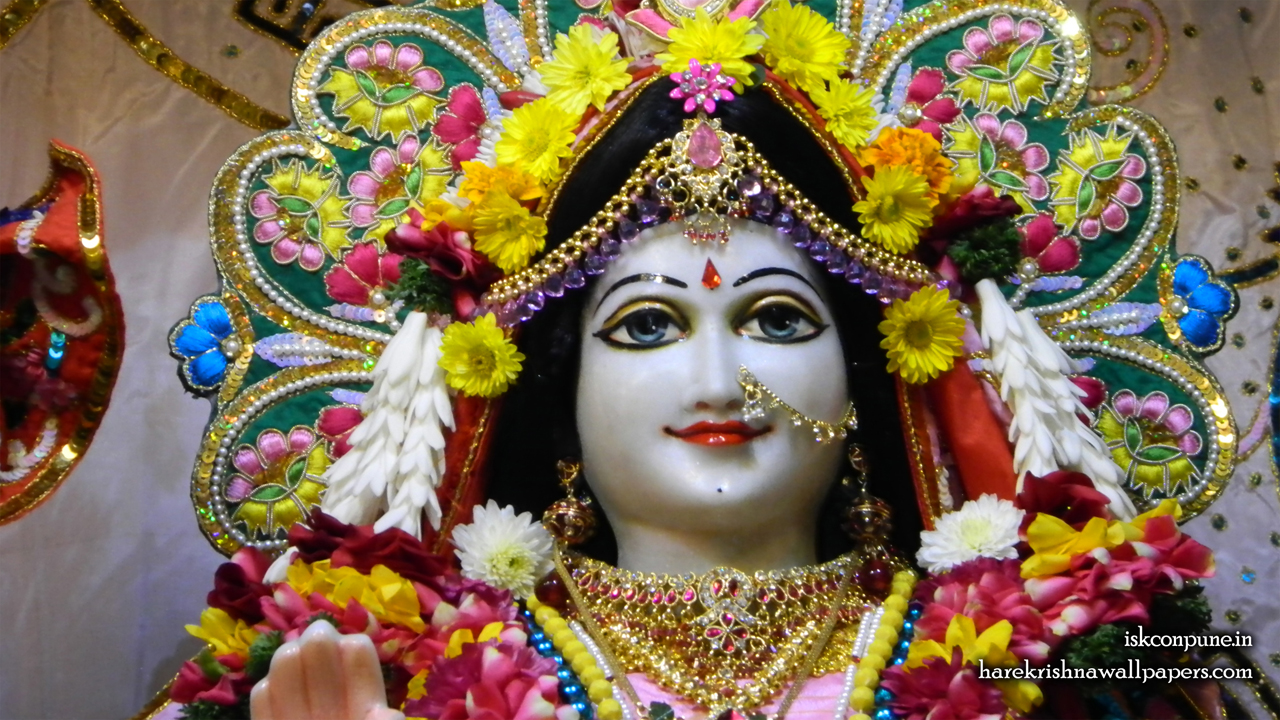 Sri Radha Close up Wallpaper (001) Size 1280x720 Download