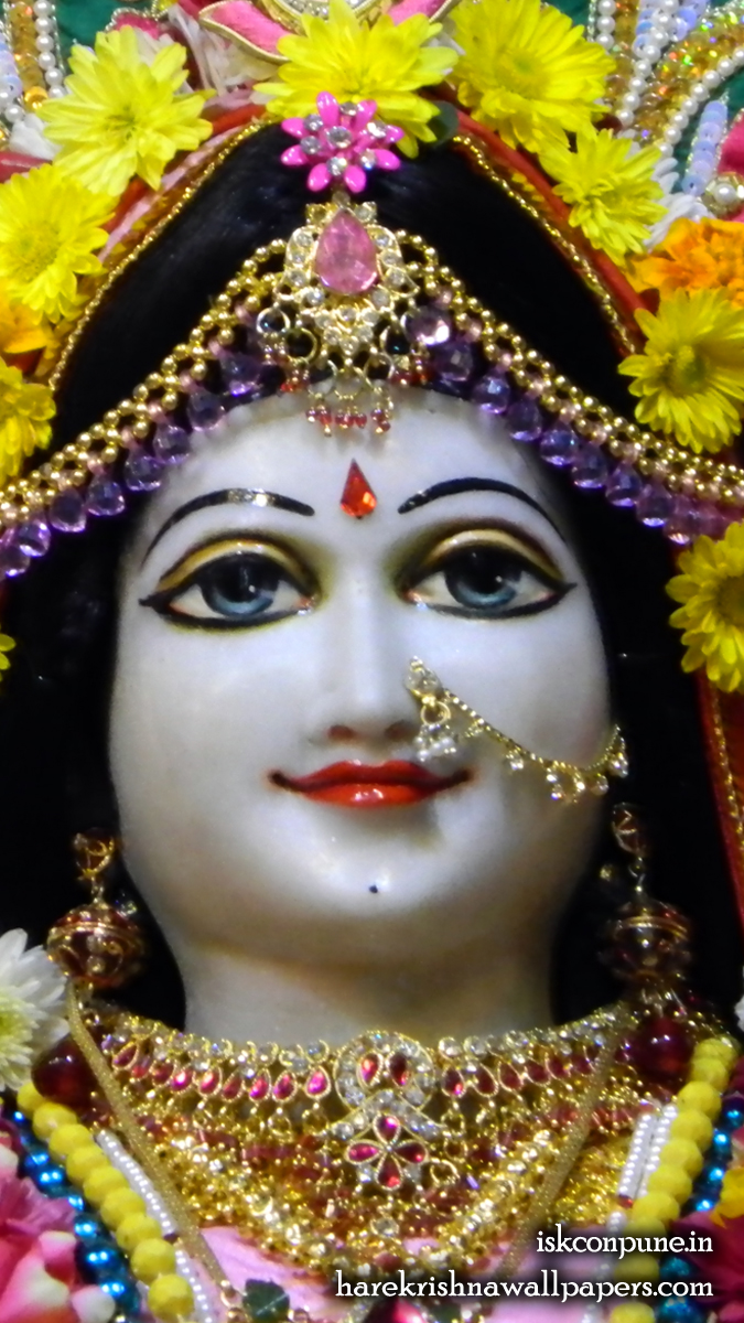 Sri Radha Close up Wallpaper (001) Size 675x1200 Download