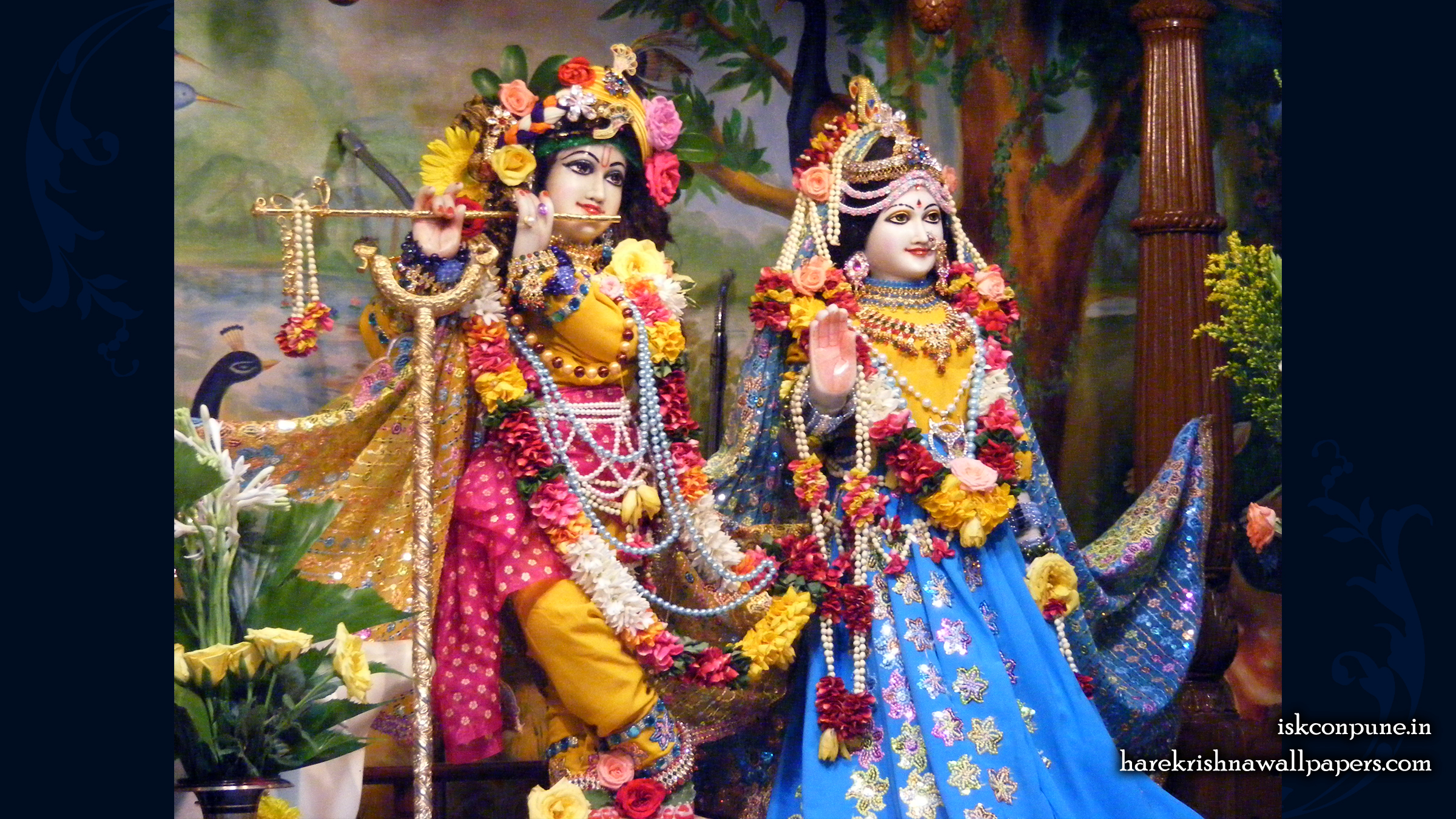 Sri Sri Radha Kunjabihari Wallpaper (001) Size 2400x1350 Download