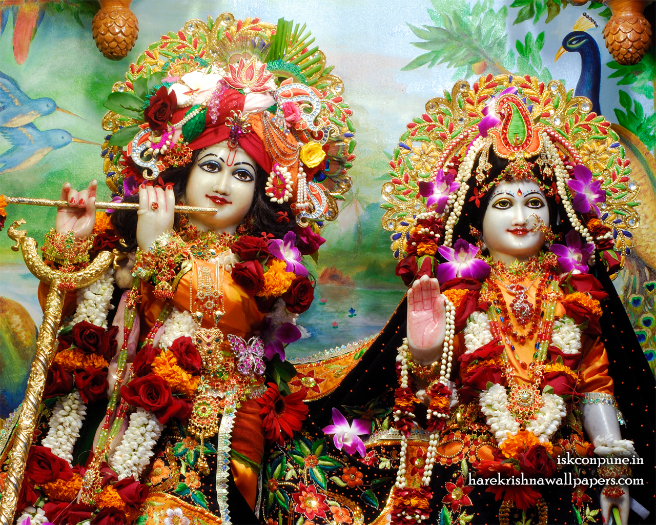 Sri Sri Radha Kunjabihari Close up Wallpaper (001) Size 1280x1024 Download