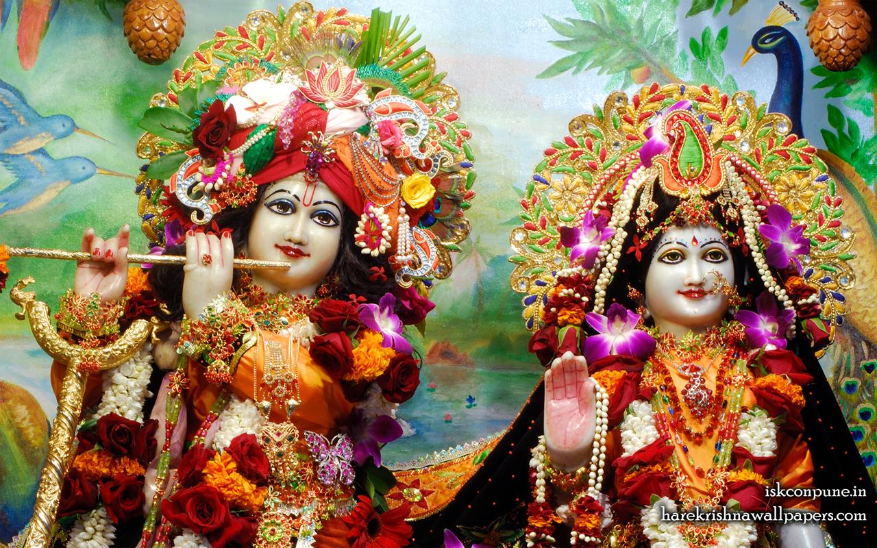 Sri Sri Radha Kunjabihari Close up Wallpaper (001) Size 1280x800 Download