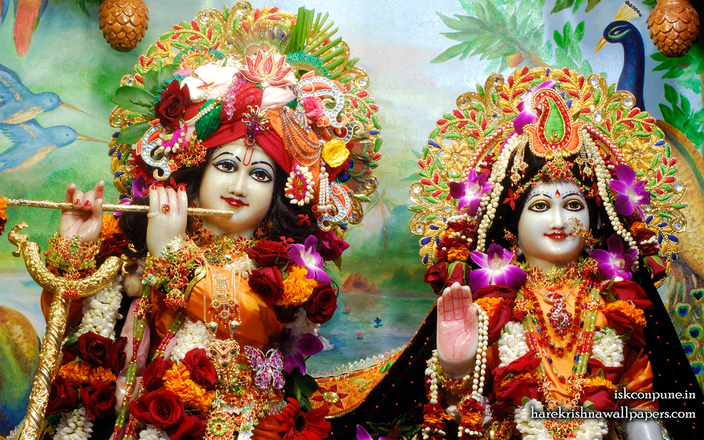 Sri Sri Radha Kunjabihari Close up Wallpaper (001) Size 1440x900 Download
