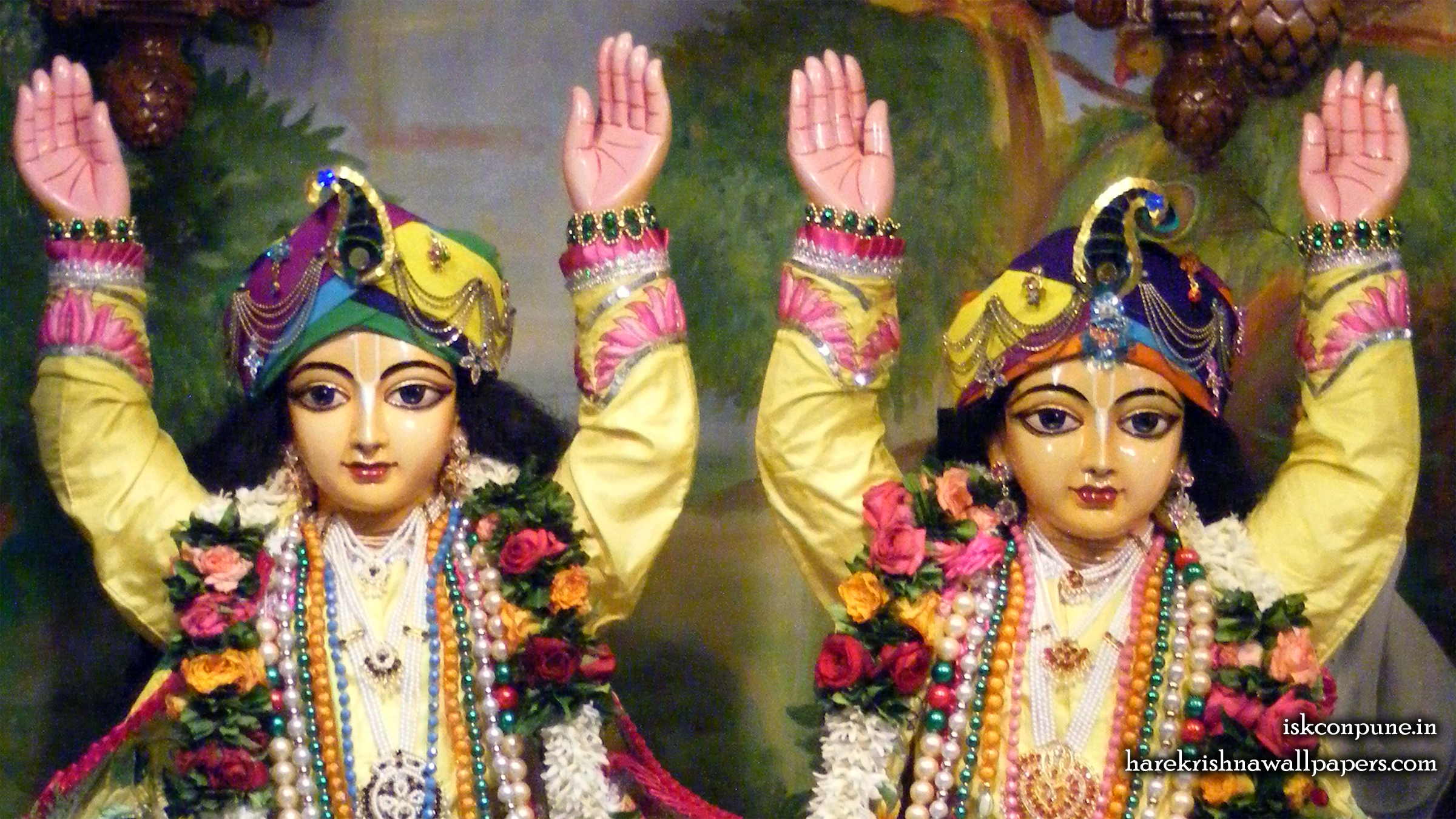 Sri Sri Gaura Nitai Close up Wallpaper (002) Size 2400x1350 Download