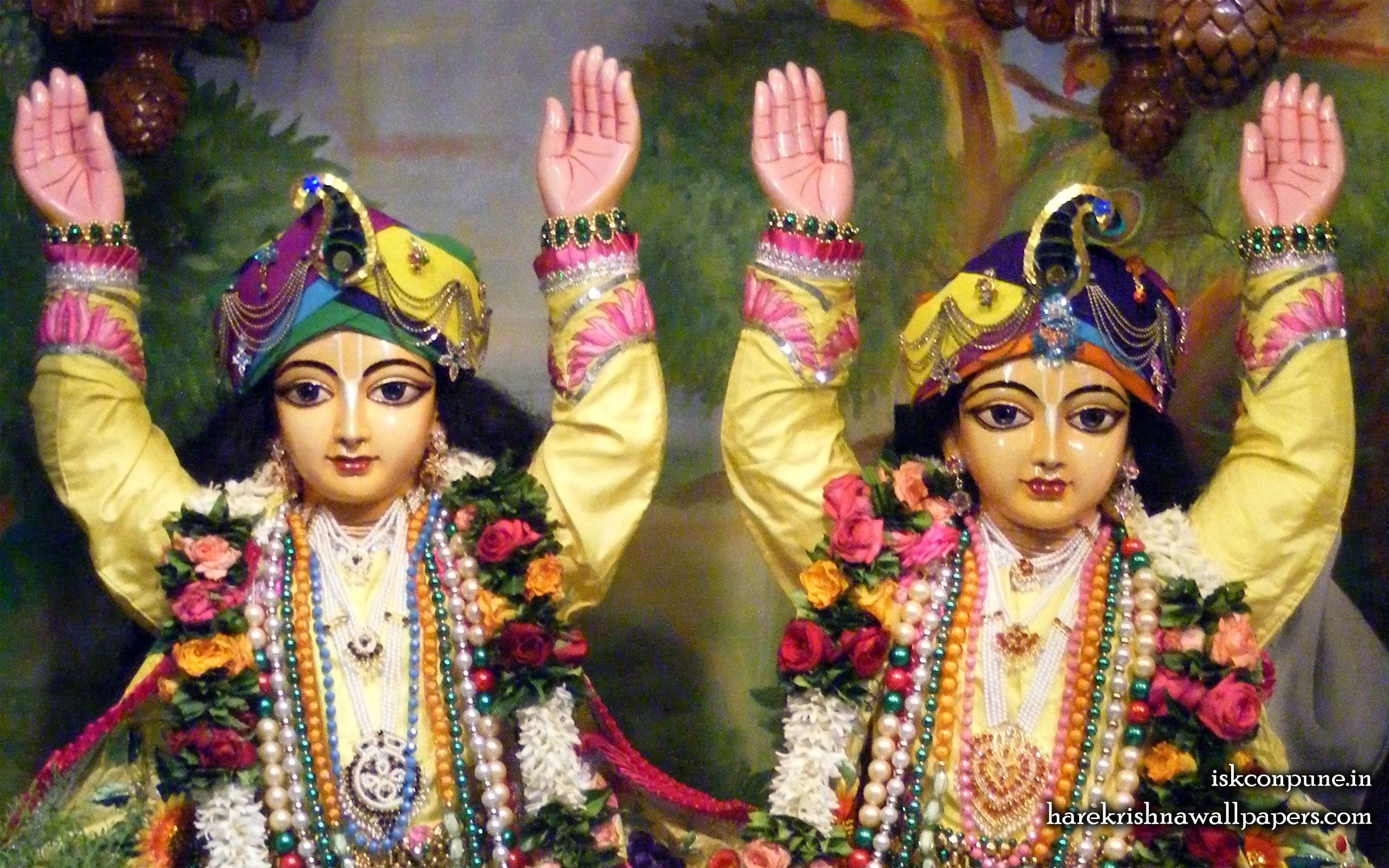 Sri Sri Gaura Nitai Close up Wallpaper (002) Size 2560x1600 Download