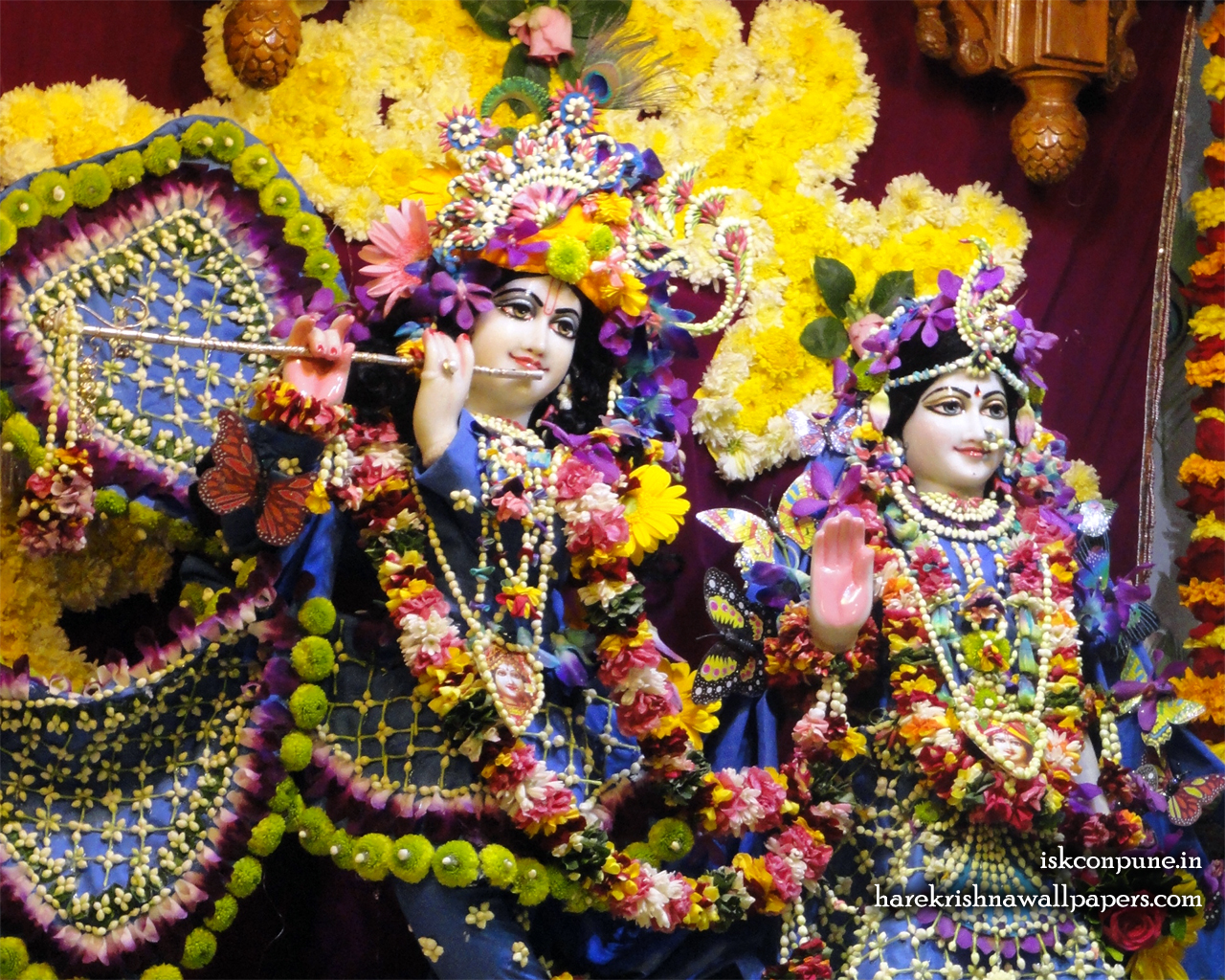 Sri Sri Radha Kunjabihari Close up Wallpaper (002) Size 1280x1024 Download