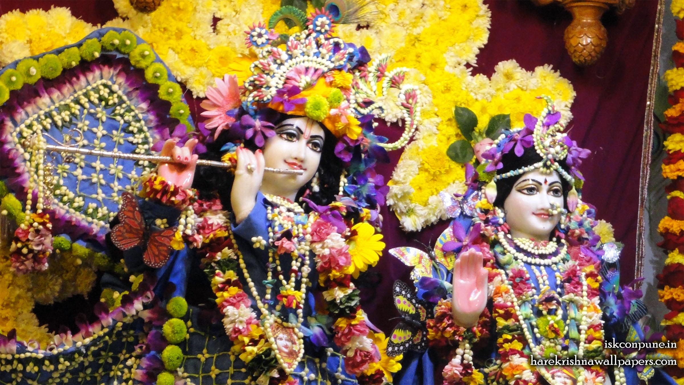 Sri Sri Radha Kunjabihari Close up Wallpaper (002) Size 2400x1350 Download