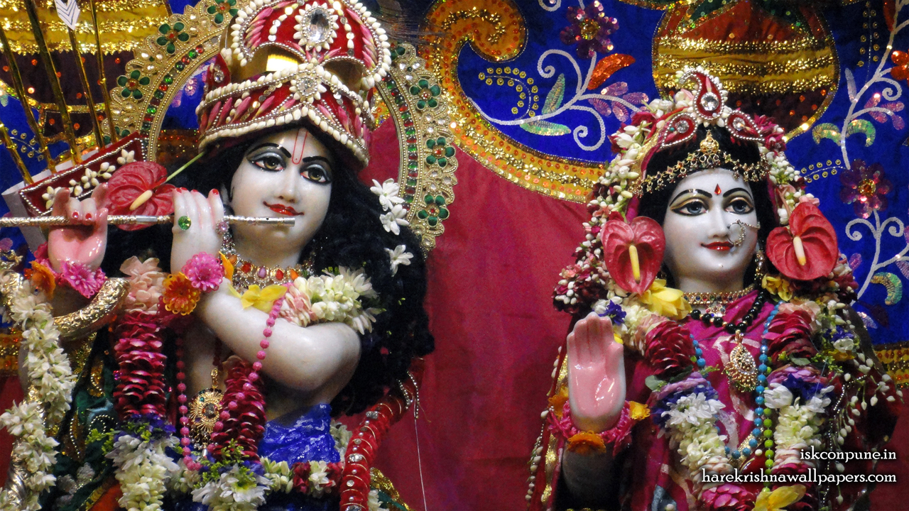 Sri Sri Radha Kunjabihari Close up Wallpaper (003) Size 1280x720 Download