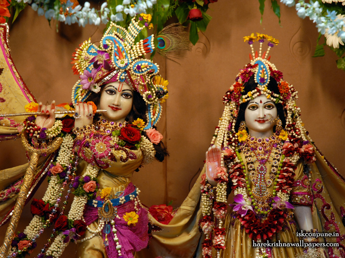 Sri Sri Radha Kunjabihari Close up Wallpaper (004) Size 1152x864 Download
