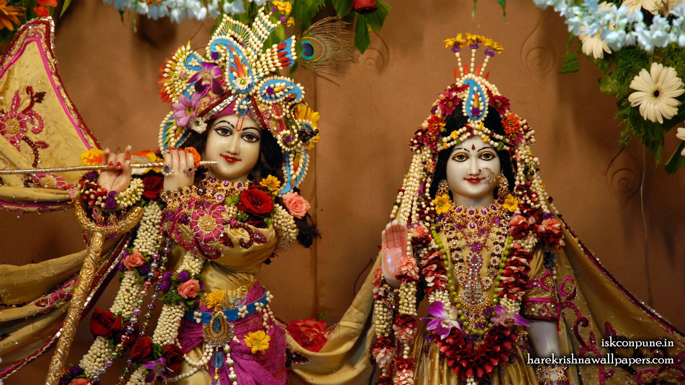 Sri Sri Radha Kunjabihari Close up Wallpaper (004) Size 2400x1350 Download