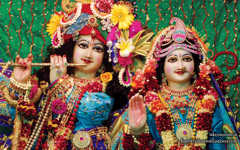 Sri Sri Radha Kunjabihari Close up Wallpaper (005) Size 1440x900 Download
