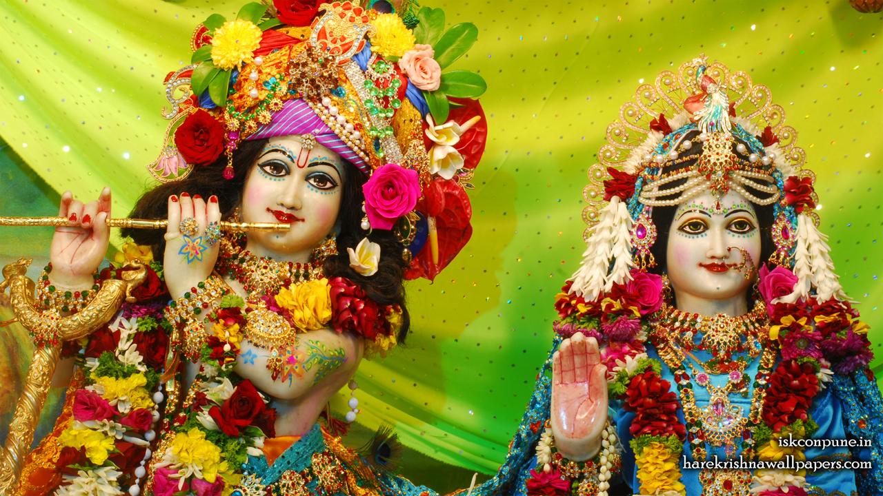 Sri Sri Radha Kunjabihari Close up Wallpaper (006) Size 1280x720 Download