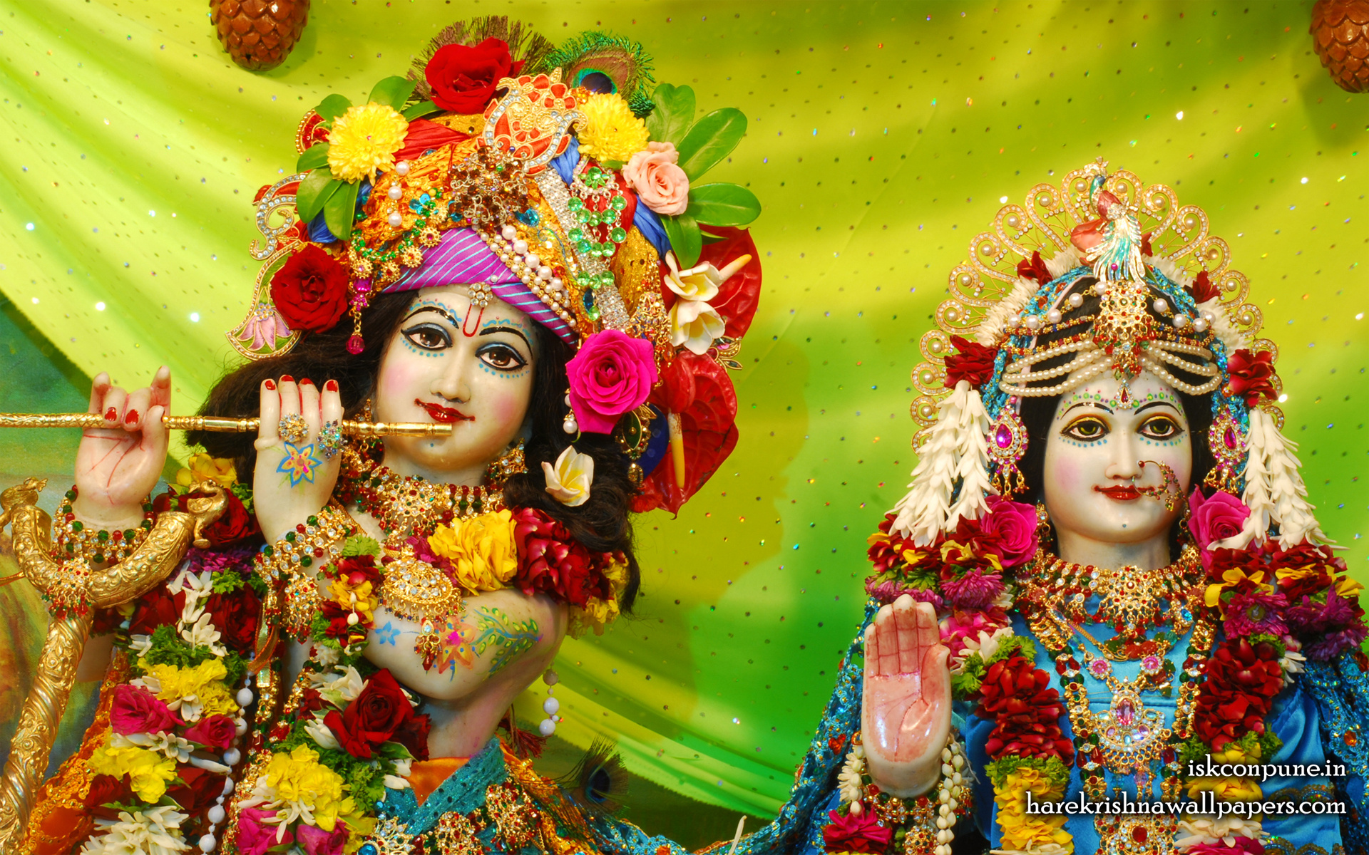 Sri Sri Radha Kunjabihari Close up Wallpaper (006) Size 1920x1200 Download