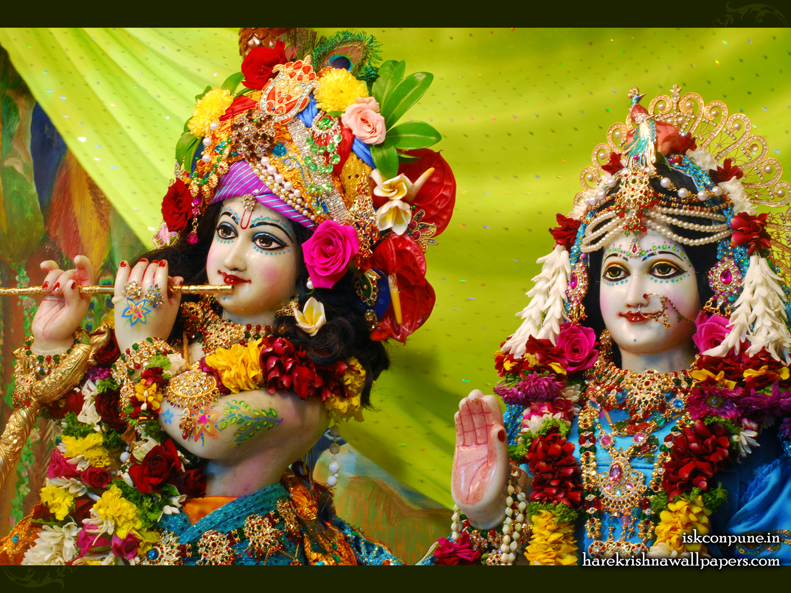Sri Sri Radha Kunjabihari Close up Wallpaper (007) Size1600x1200 Download
