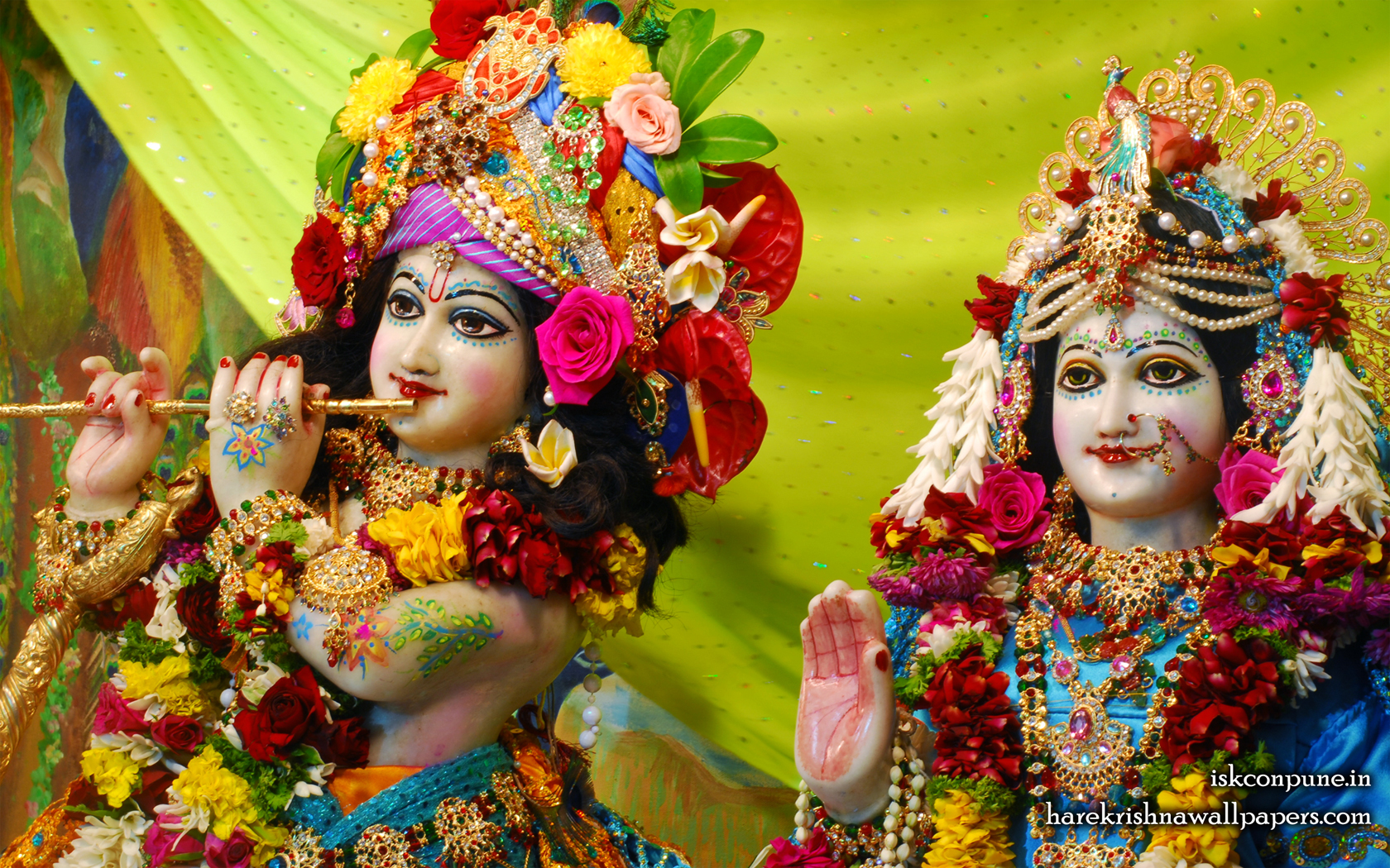 Sri Sri Radha Kunjabihari Close up Wallpaper (007) Size 1680x1050 Download
