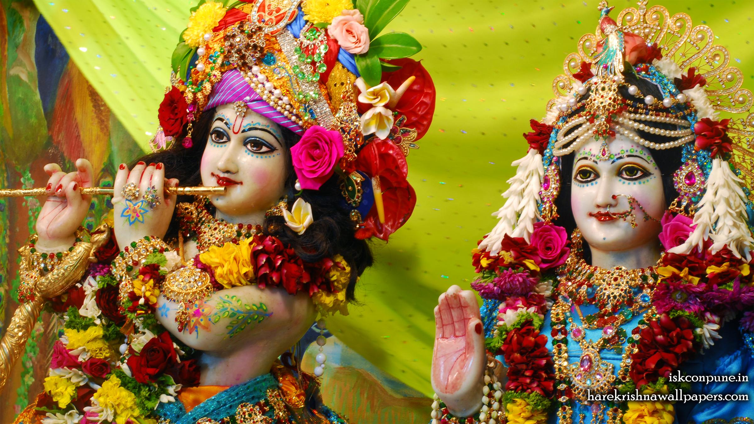 Sri Sri Radha Kunjabihari Close up Wallpaper (007) Size 2400x1350 Download