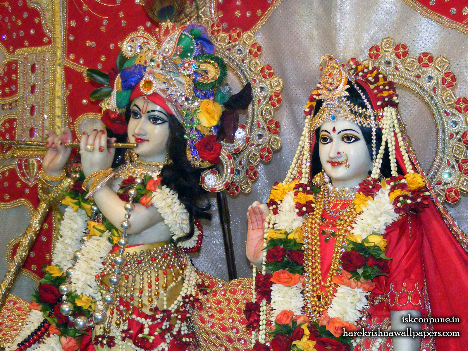 Sri Sri Radha Kunjabihari Close up Wallpaper (008) Size1600x1200 Download