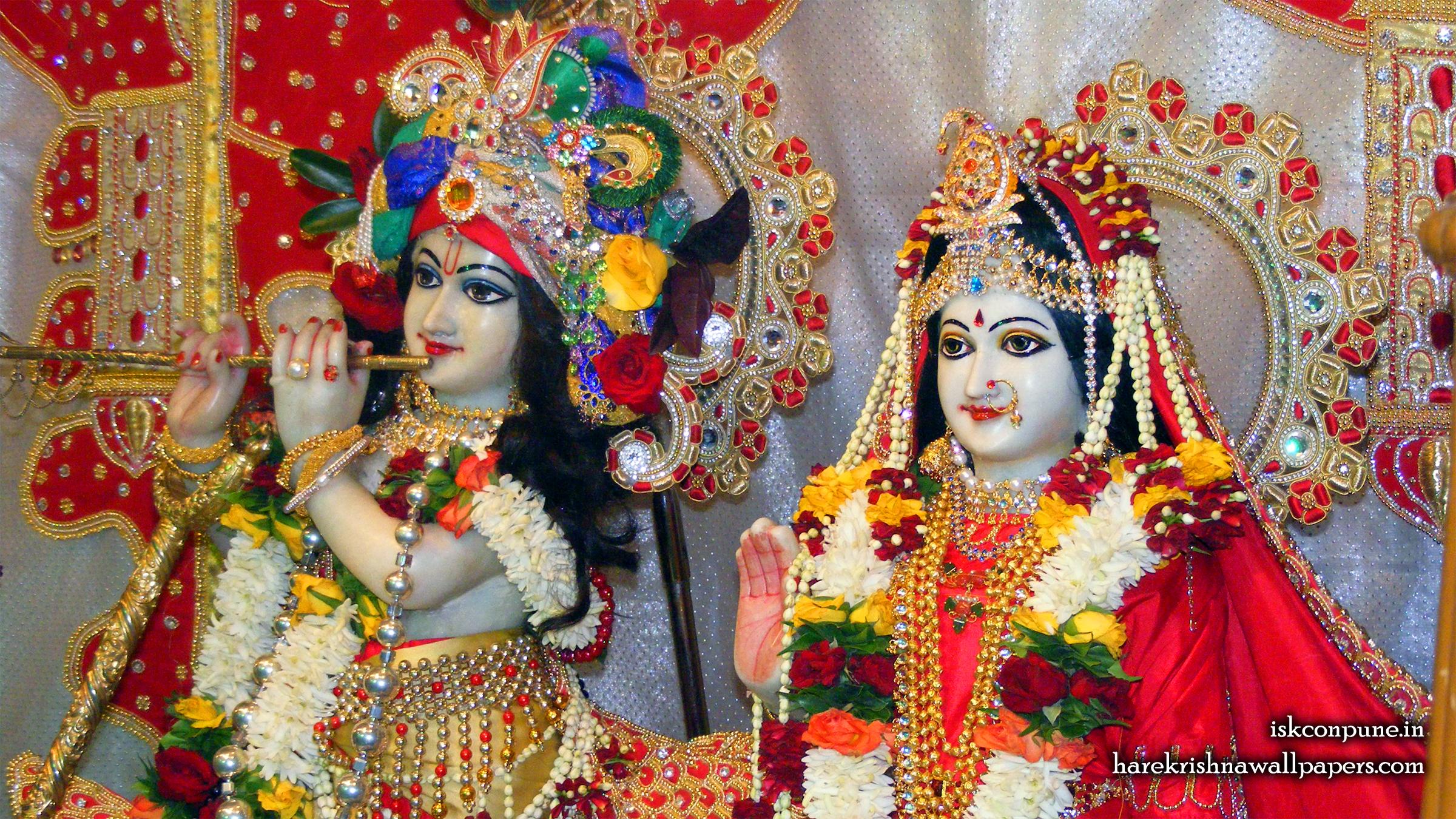 Sri Sri Radha Kunjabihari Close up Wallpaper (008) Size 2400x1350 Download