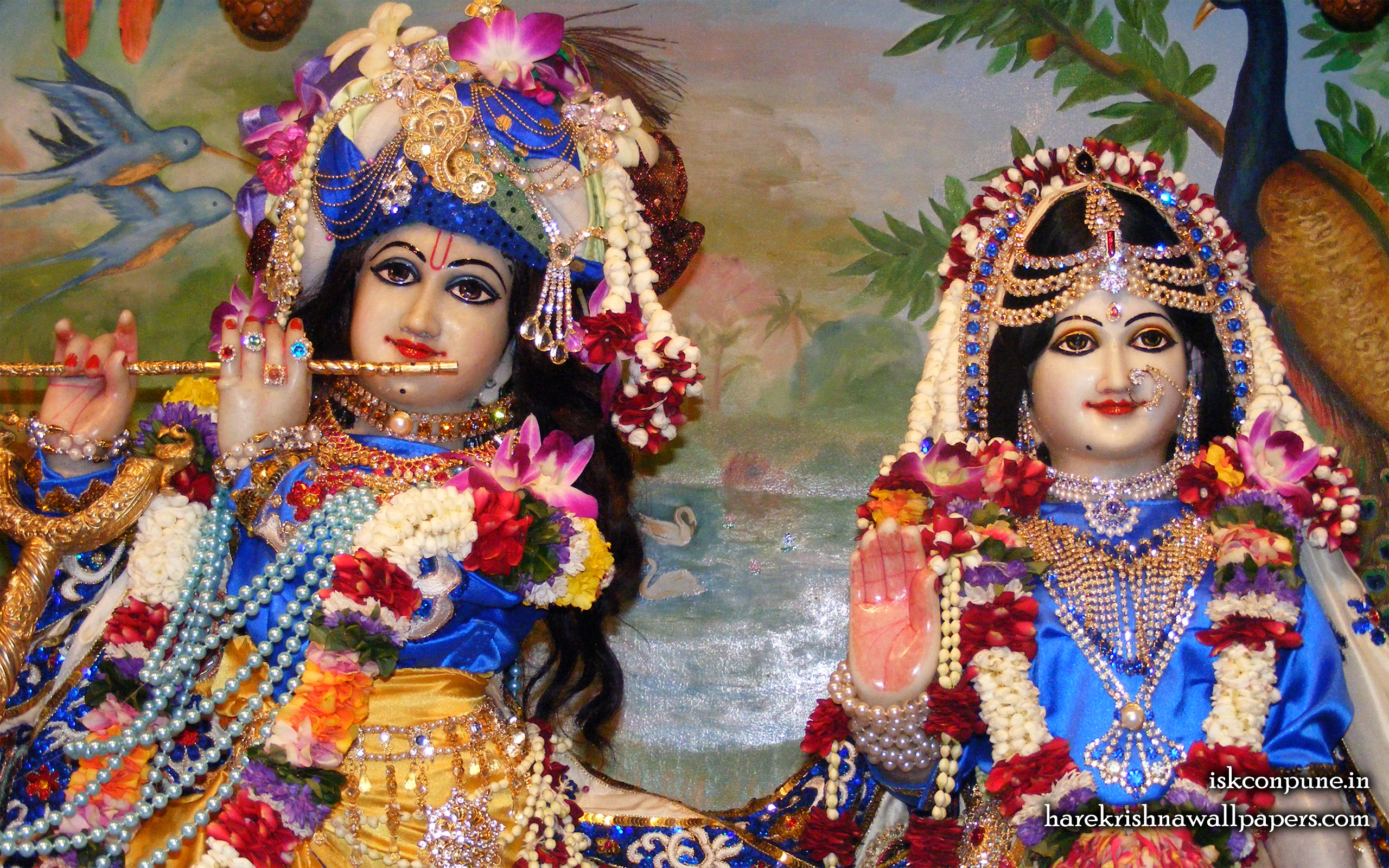 Sri Sri Radha Kunjabihari Close up Wallpaper (010) Size 2560x1600 Download