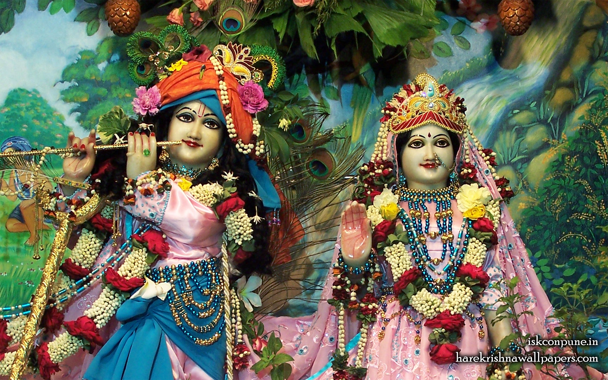 Sri Sri Radha Kunjabihari Close up Wallpaper (012) Size 2560x1600 Download