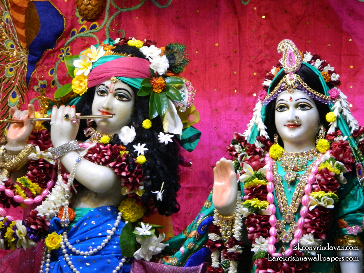Sri Sri Radha Kunjabihari Close up Wallpaper (013) Size 1400x1050 Download