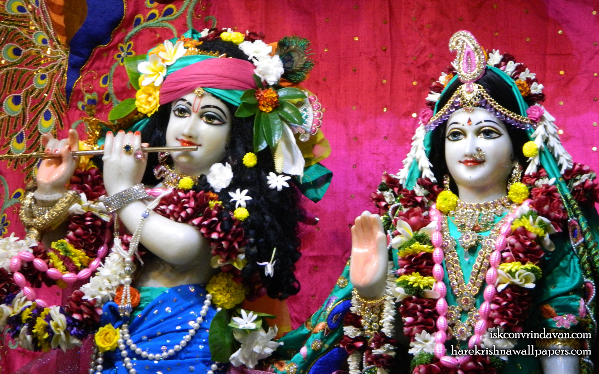 Sri Sri Radha Kunjabihari Close up Wallpaper (013) Size 1920x1200 Download