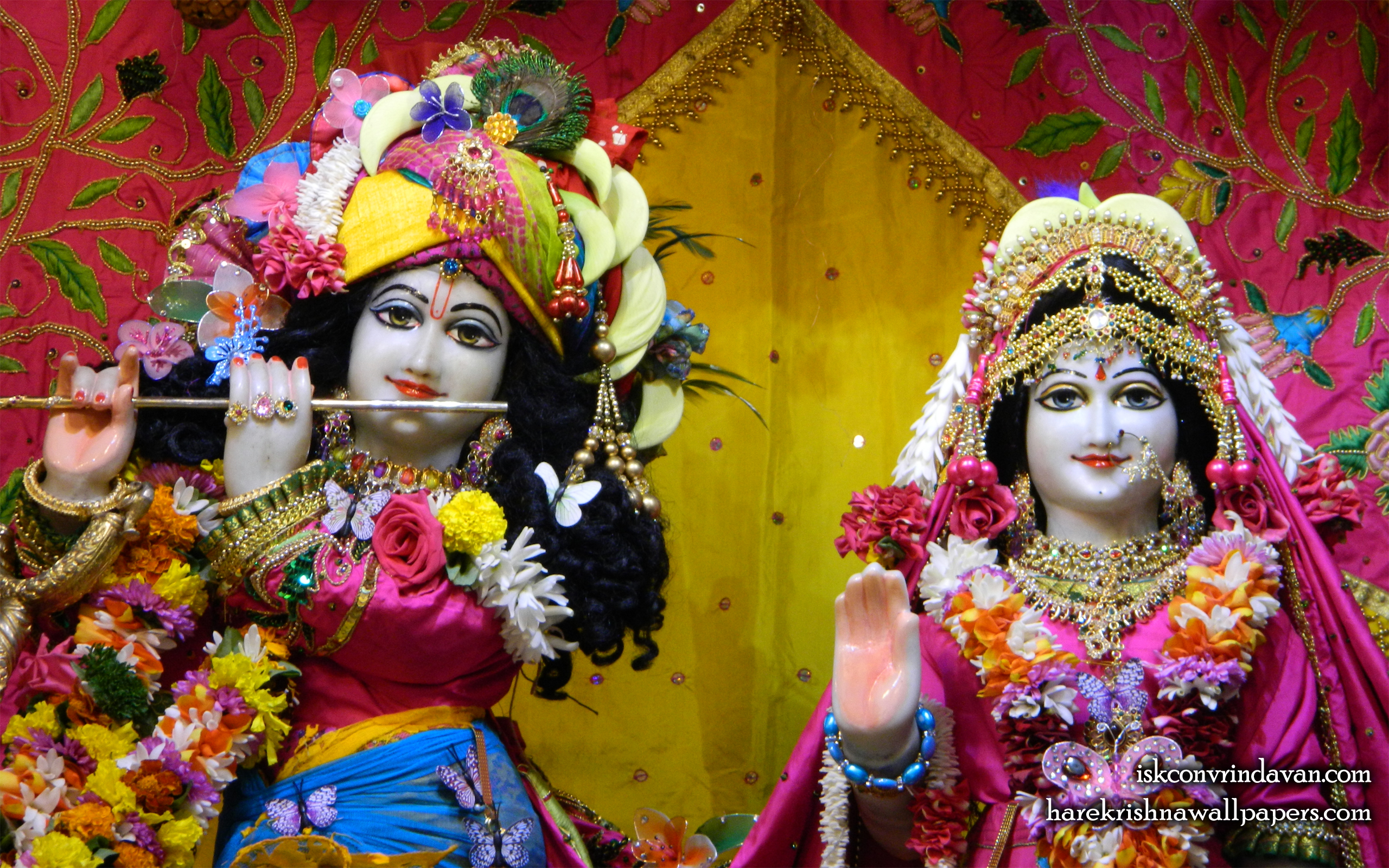 Sri Sri Radha Kunjabihari Close up Wallpaper (014) Size 2560x1600 Download