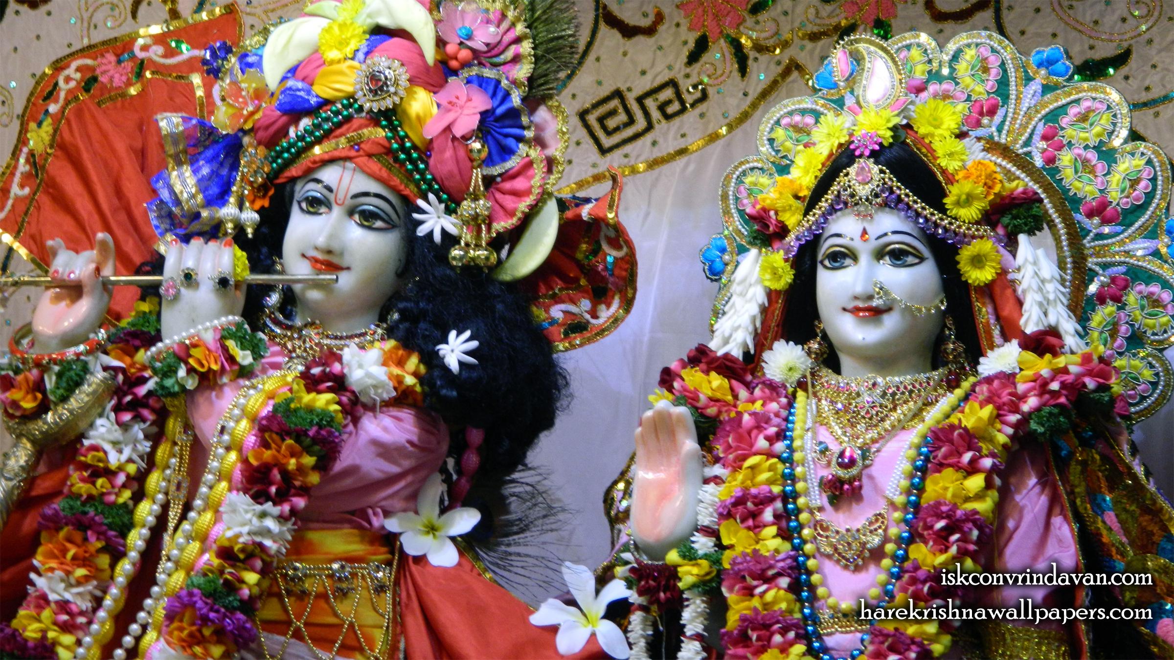 Sri Sri Radha Kunjabihari Close up Wallpaper (015) Size 2400x1350 Download