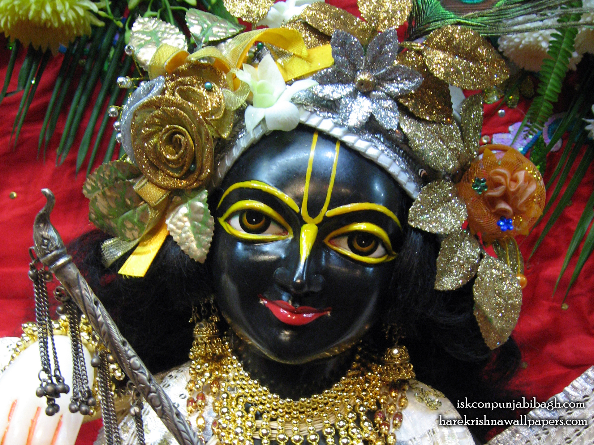 Sri Krishna Close up Wallpaper (001) Size 1920x1440 Download