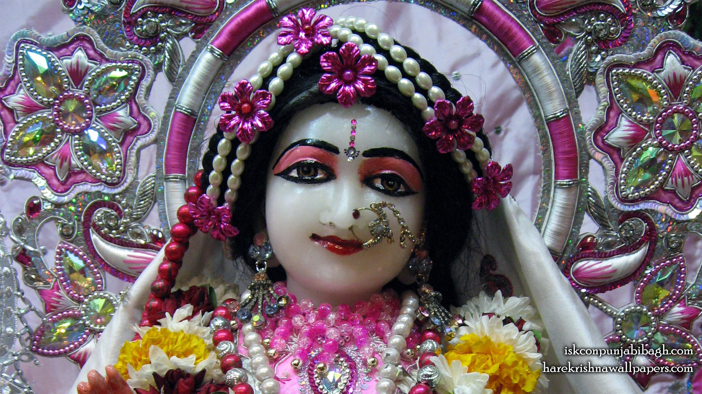Sri Radha Close up Wallpaper (001) Size 2400x1350 Download