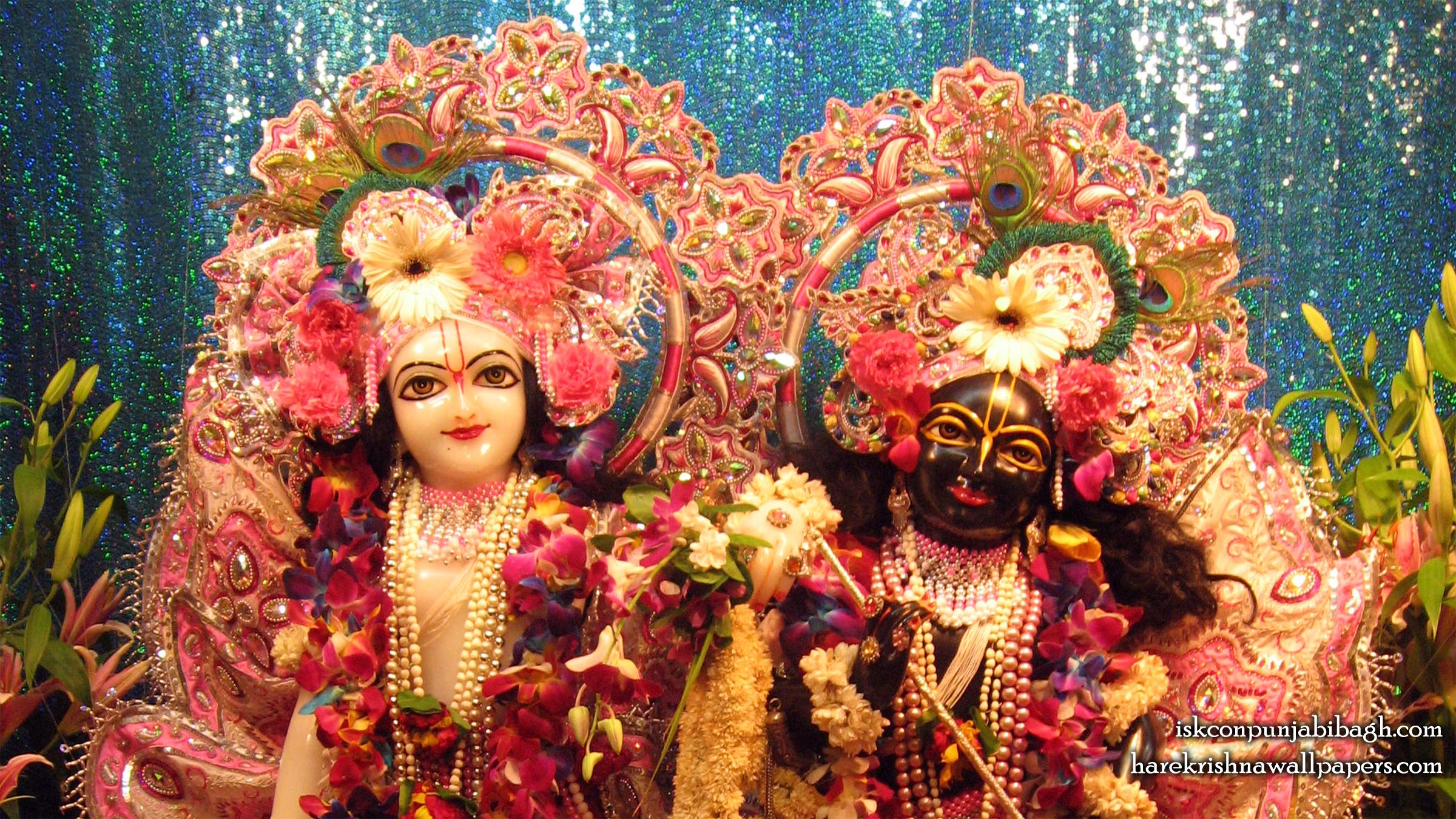 Sri Sri Krishna Balaram Close up Wallpaper (001) Size 2400x1350 Download