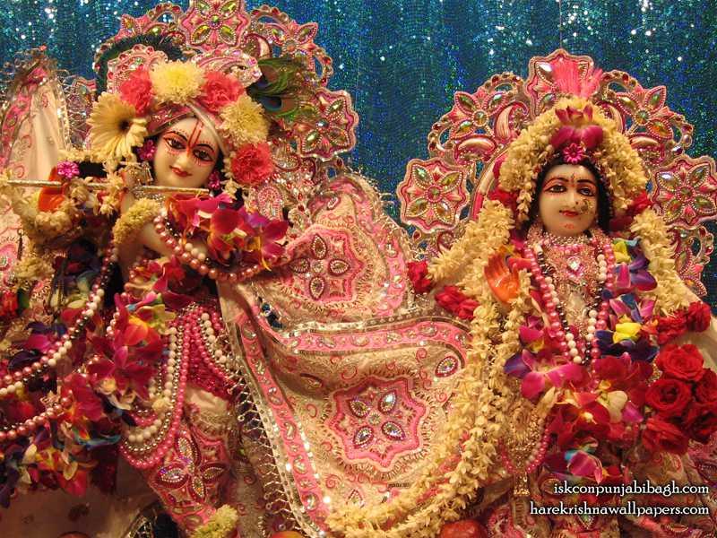 Sri Sri Radha Radhikaraman Close up Wallpaper (001)