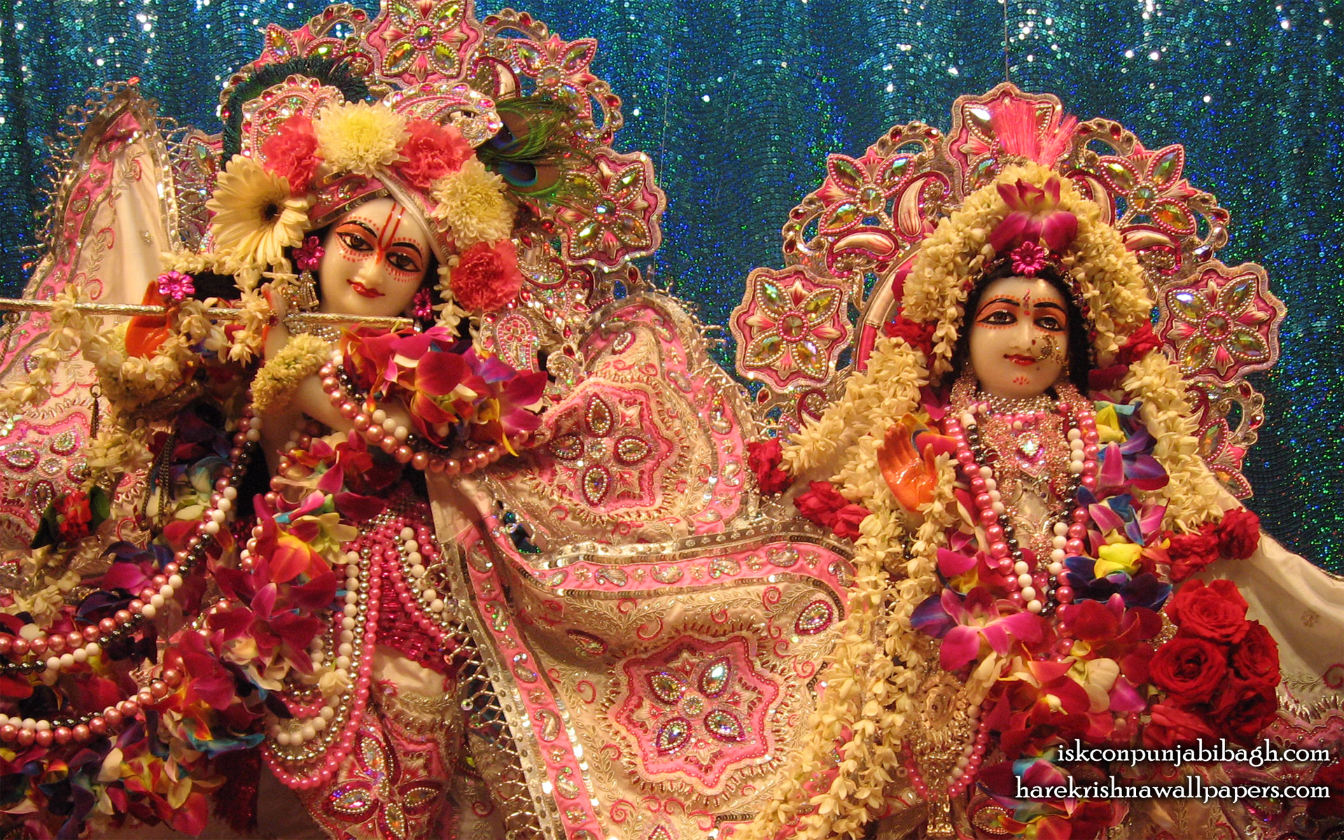Sri Sri Radha Radhikaraman Close up Wallpaper (001) Size 1920x1200 Download