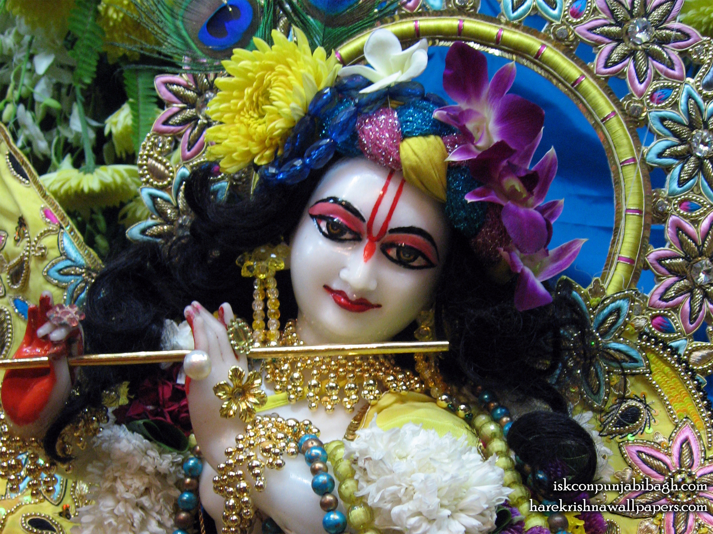 Sri Radhikaraman Close up Wallpaper (002) Size 2400x1800 Download