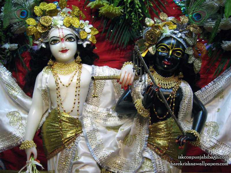 Sri Sri Krishna Balaram Close up Wallpaper (002)