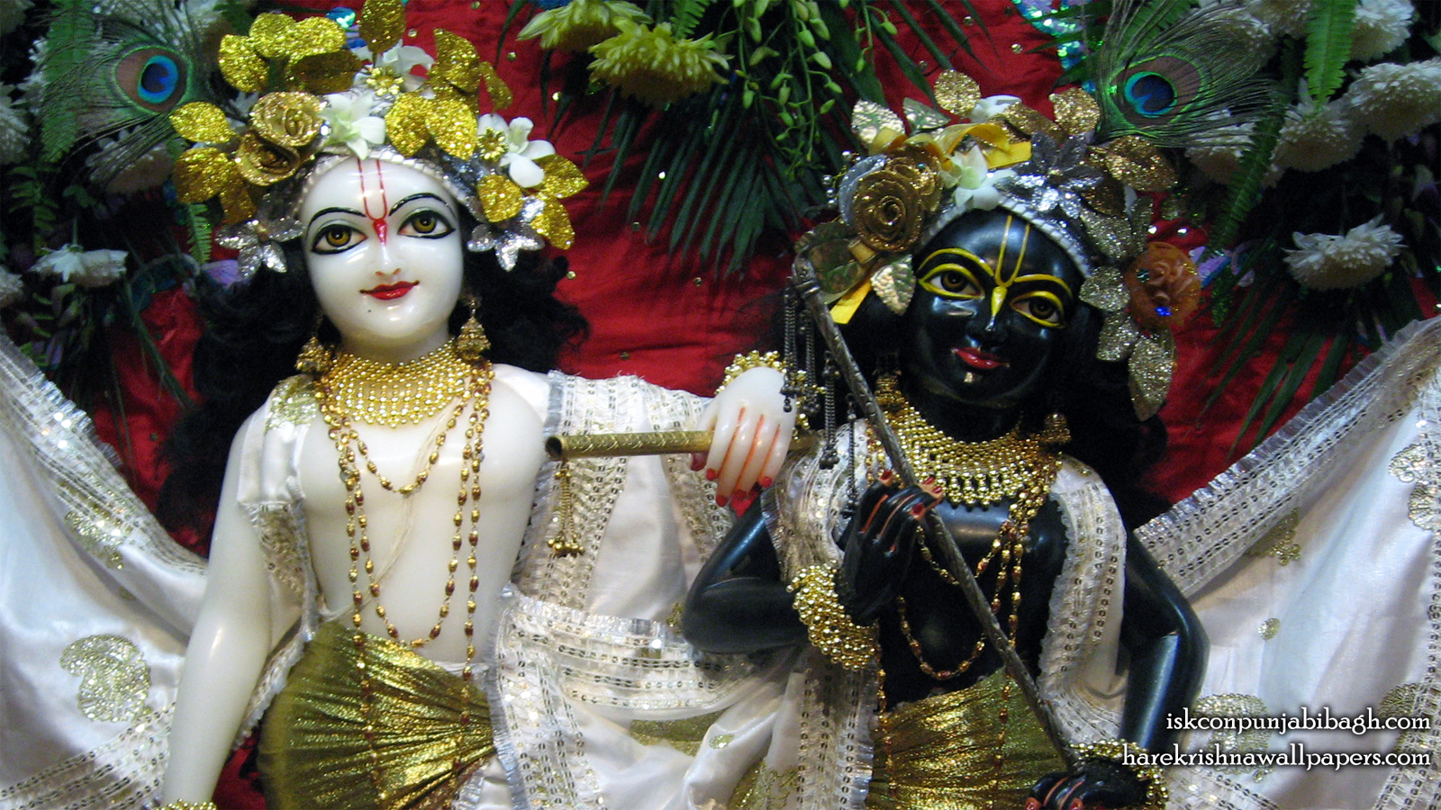 Sri Sri Krishna Balaram Close up Wallpaper (002) Size 1600x900 Download