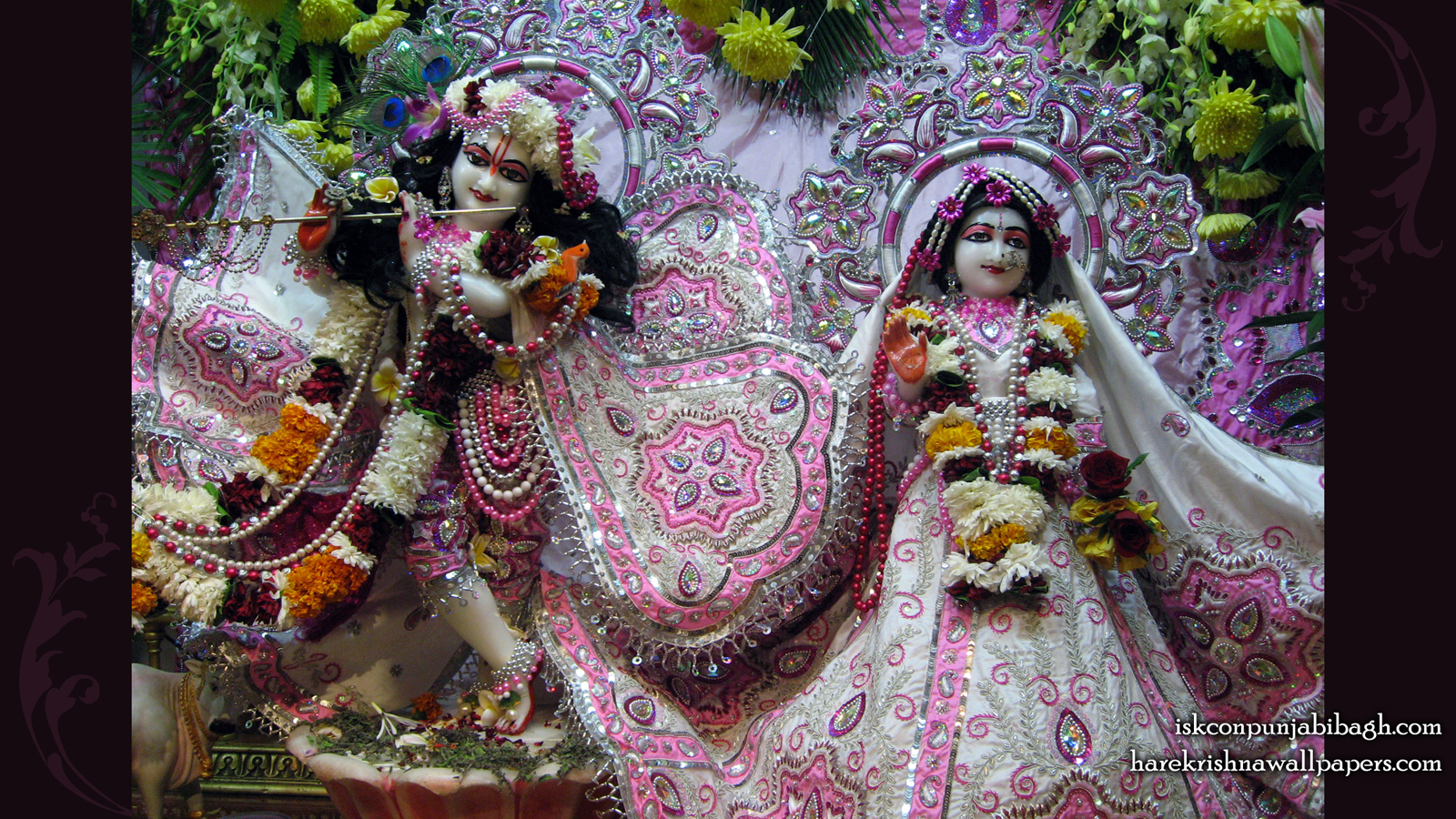 Sri Sri Radha Radhikaraman Wallpaper (002) Size 1600x900 Download