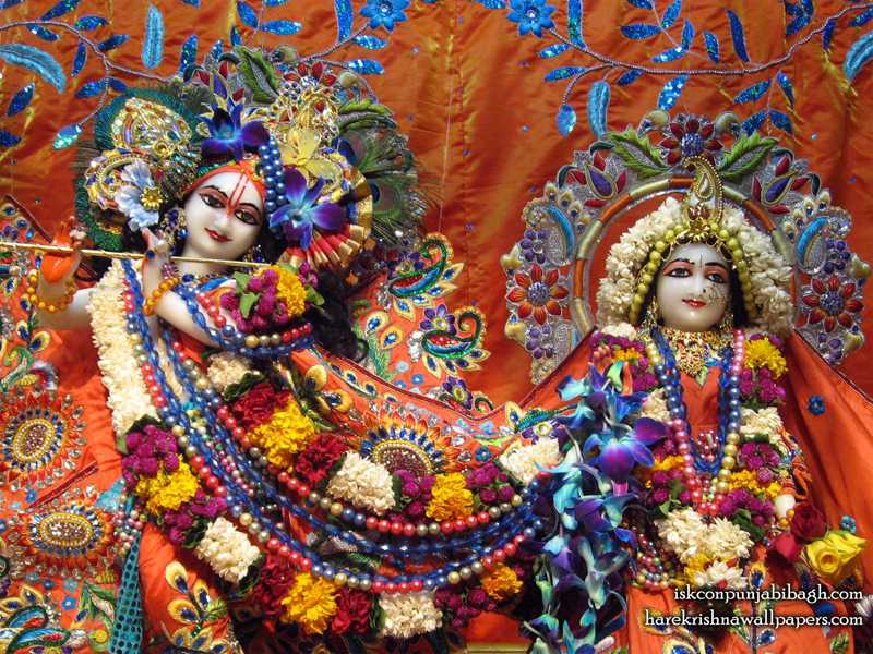 Sri Sri Radha Radhikaraman Close up Wallpaper (002)