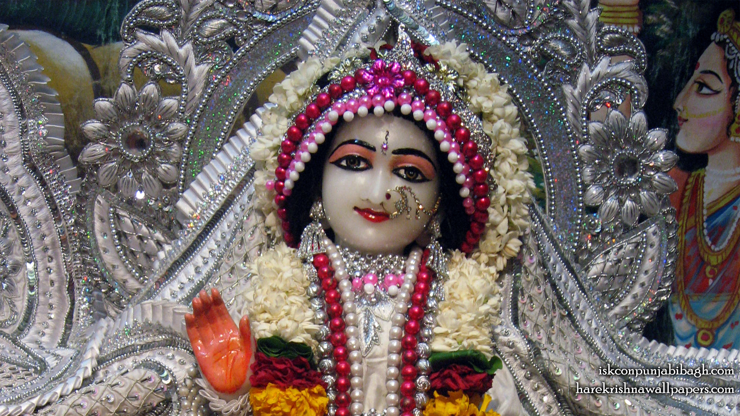 Sri Radha Close up Wallpaper (003) Size 2400x1350 Download