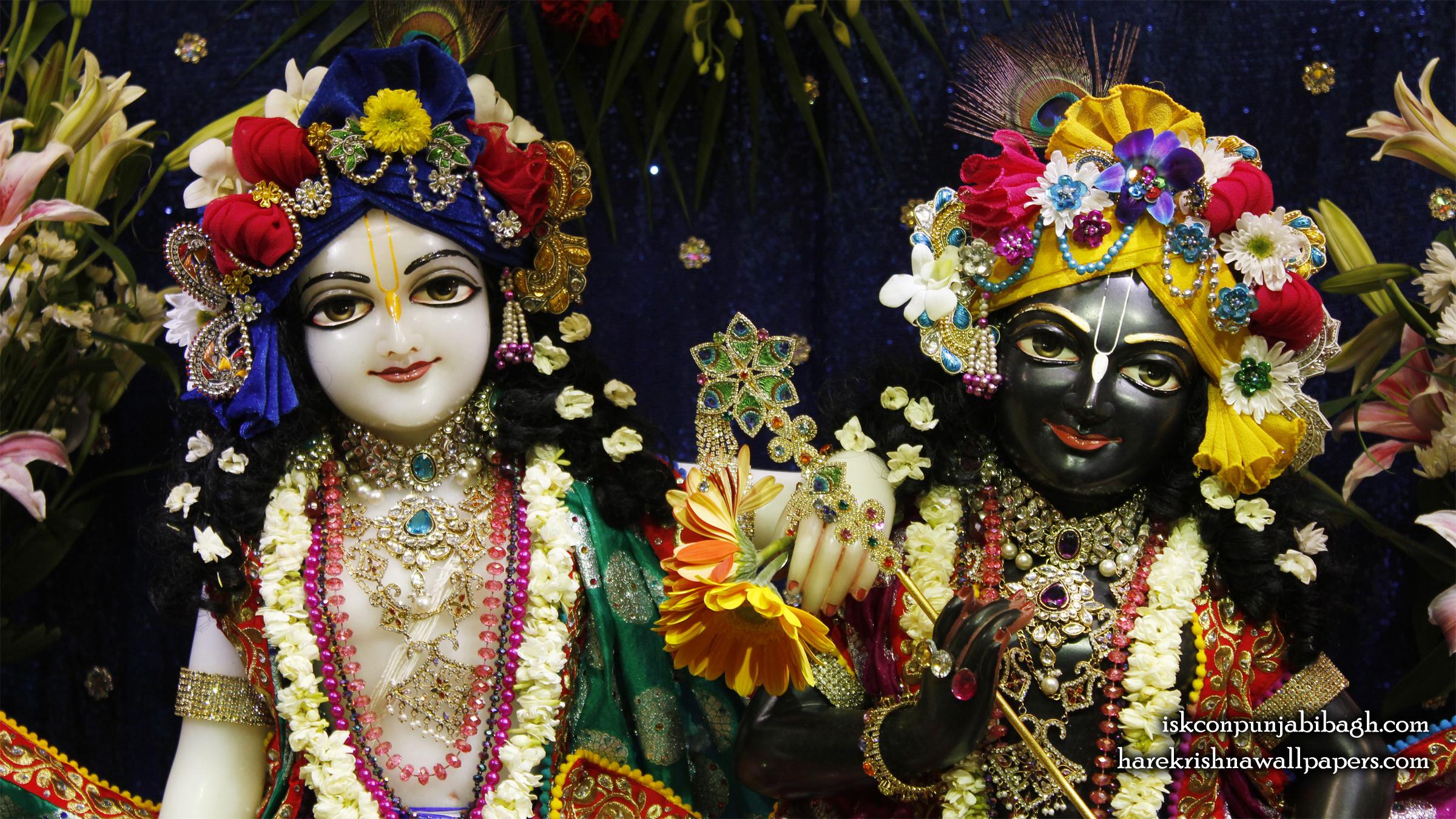 Sri Sri Krishna Balaram Close up Wallpaper (003) Size 2400x1350 Download