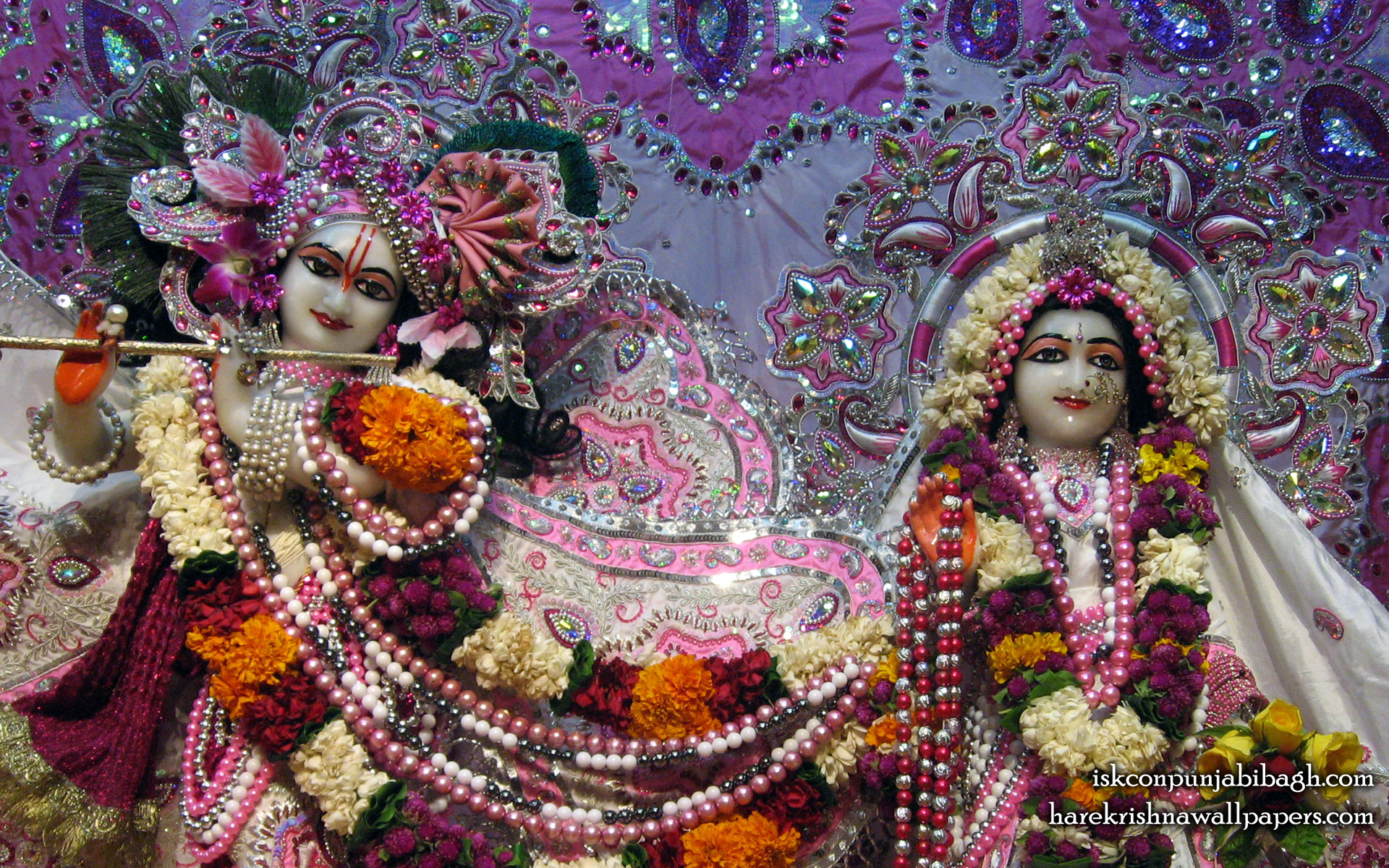 Sri Sri Radha Radhikaraman Close up Wallpaper (003) Size 1920x1200 Download