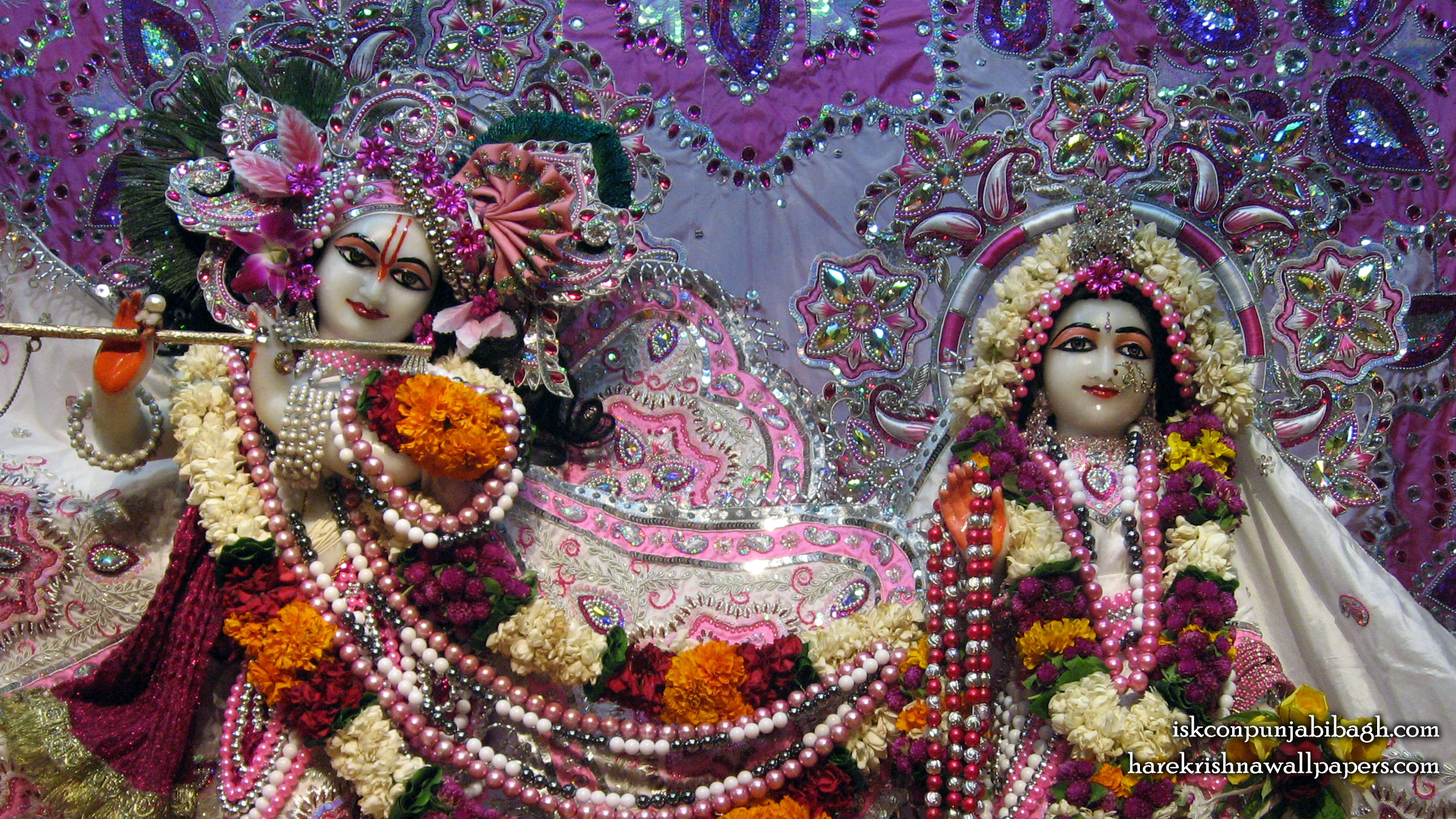 Sri Sri Radha Radhikaraman Close up Wallpaper (003) Size 2400x1350 Download